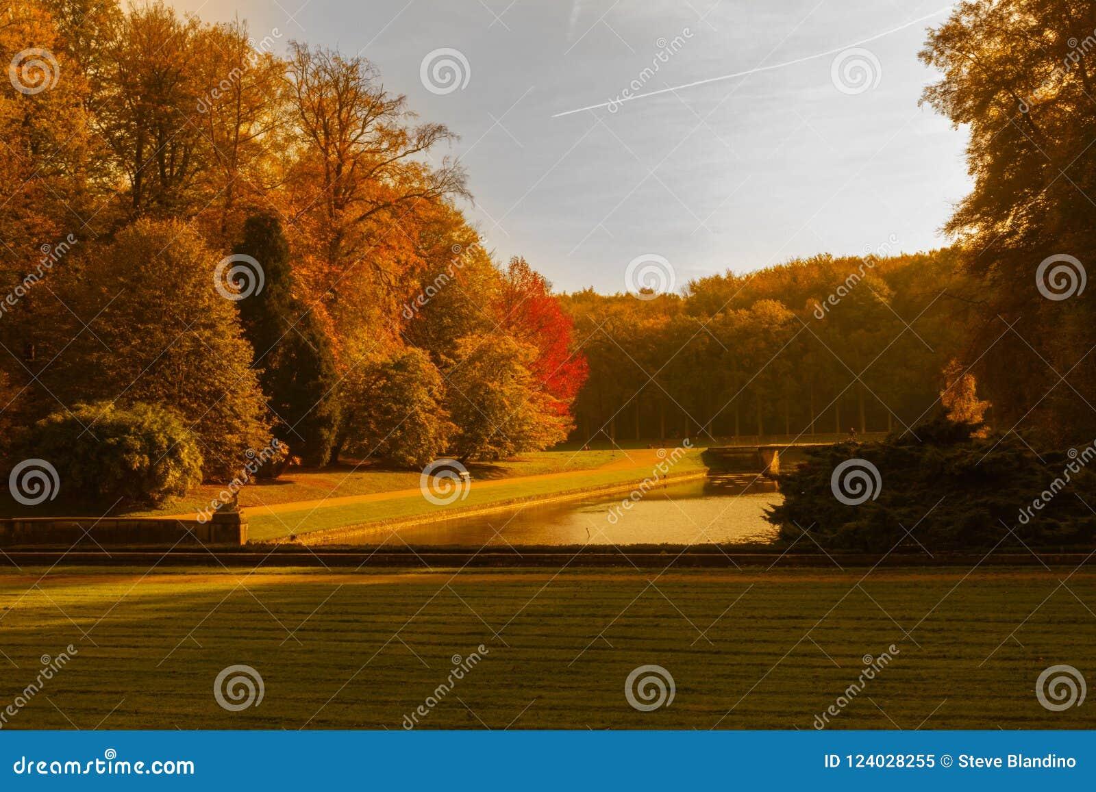Höstfärger på Tervuren parkerar