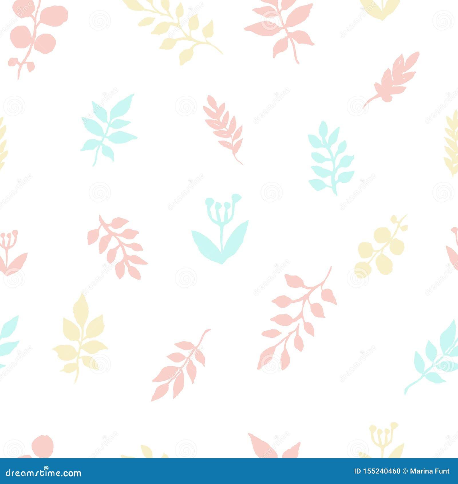 Höstmodellen av vattenfärgen lämnar frihandsteckningen Skissa av växtsidor, textilmodell