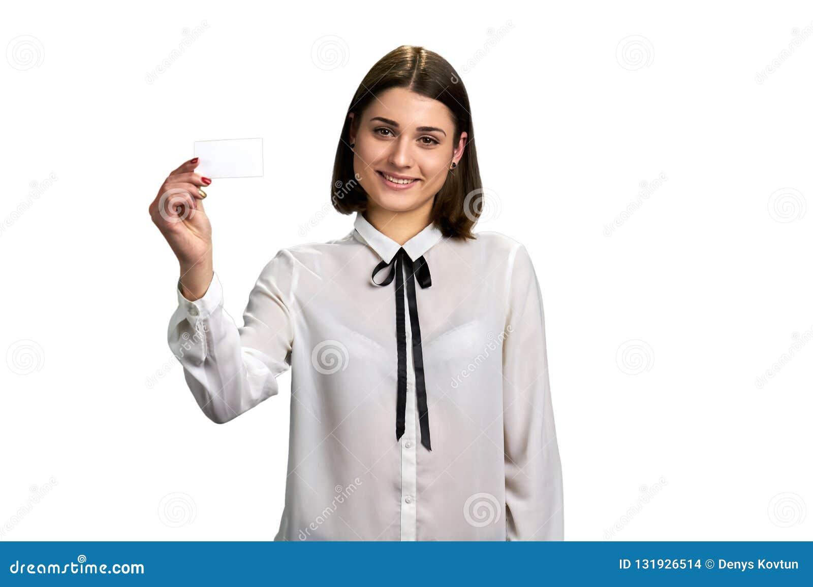 Hübsche Frauenholding-Geschenkkarte