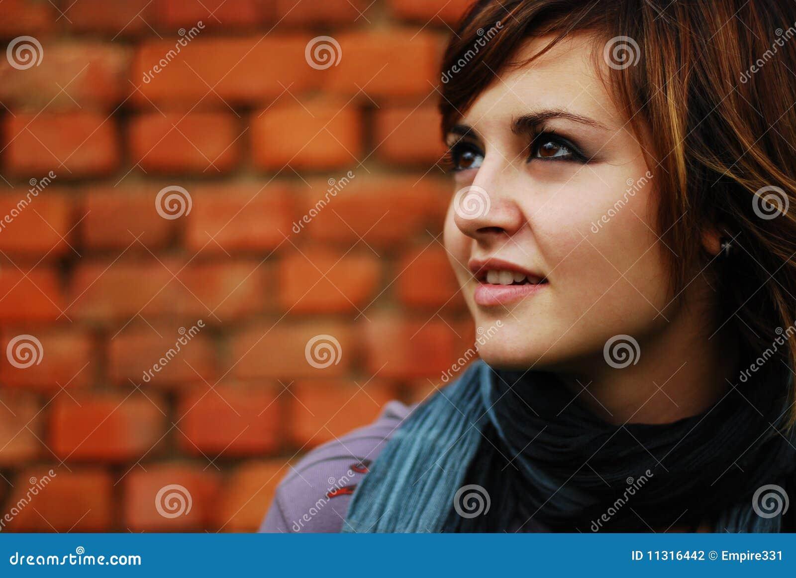 Hübsches Frauenportrait