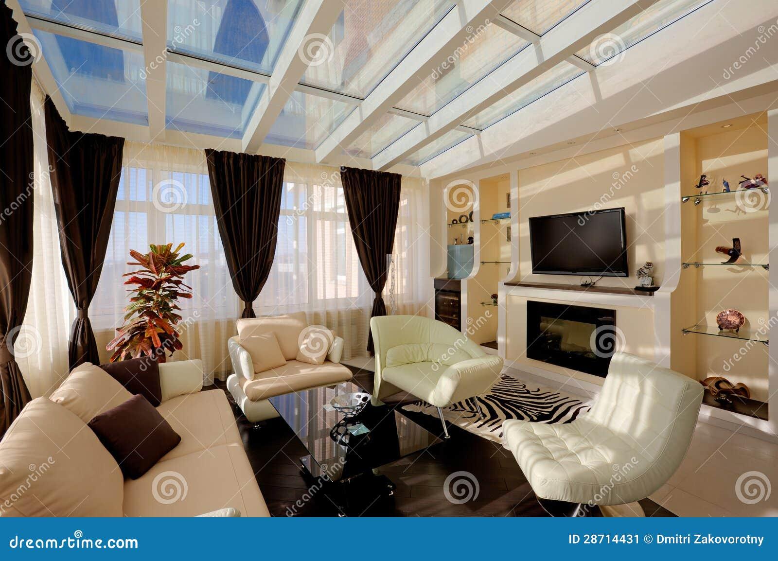 Hübsches Wohnzimmer stockbild. Bild von teppich, fenster ...