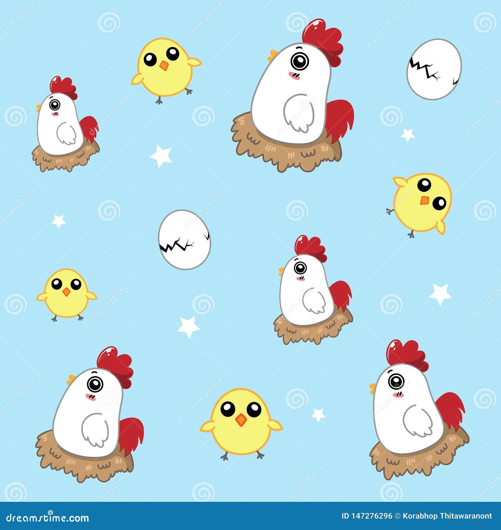 Hühnermuster nett im Himmel