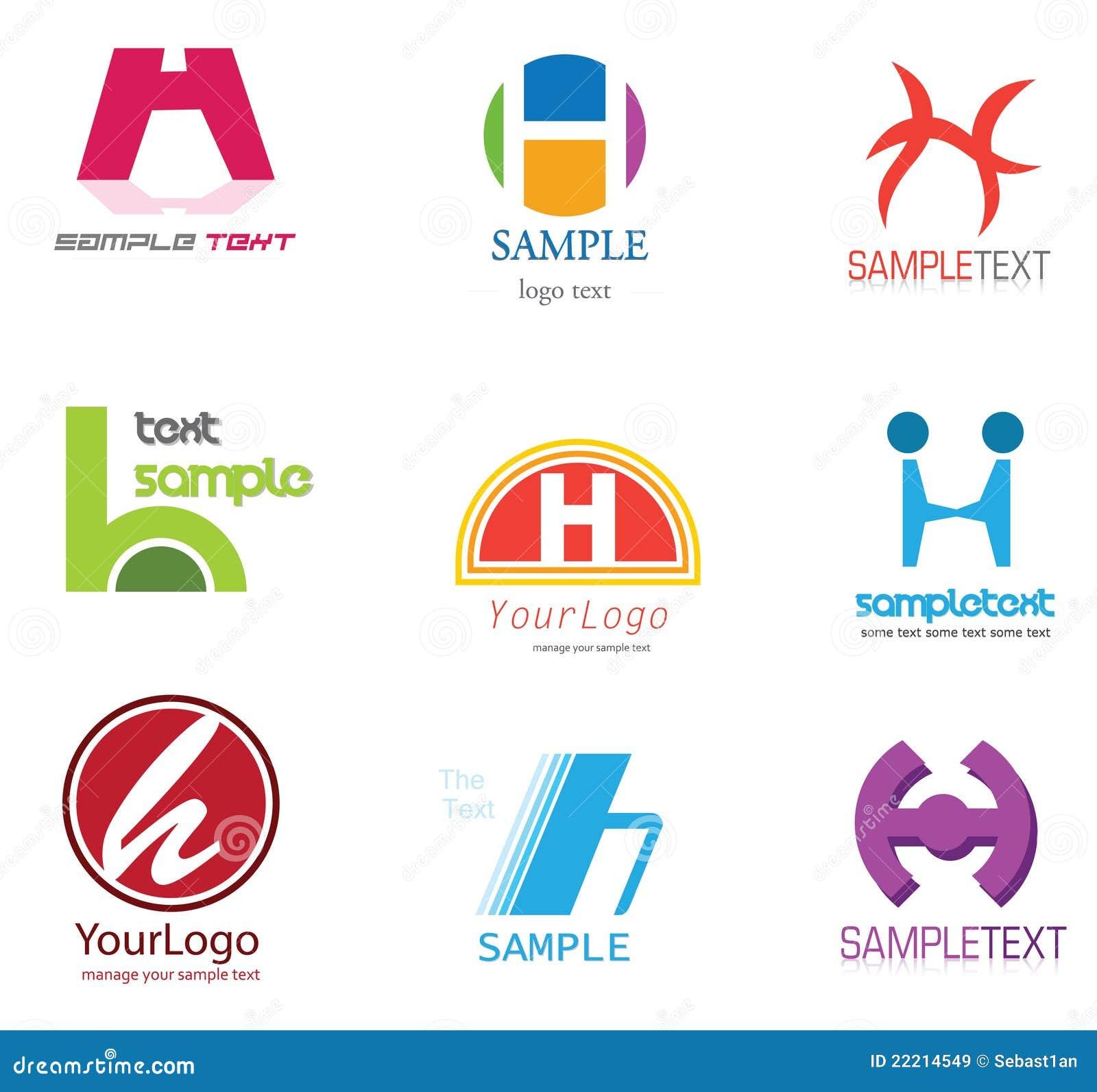 按字母的构思设计h信函徽标.图片