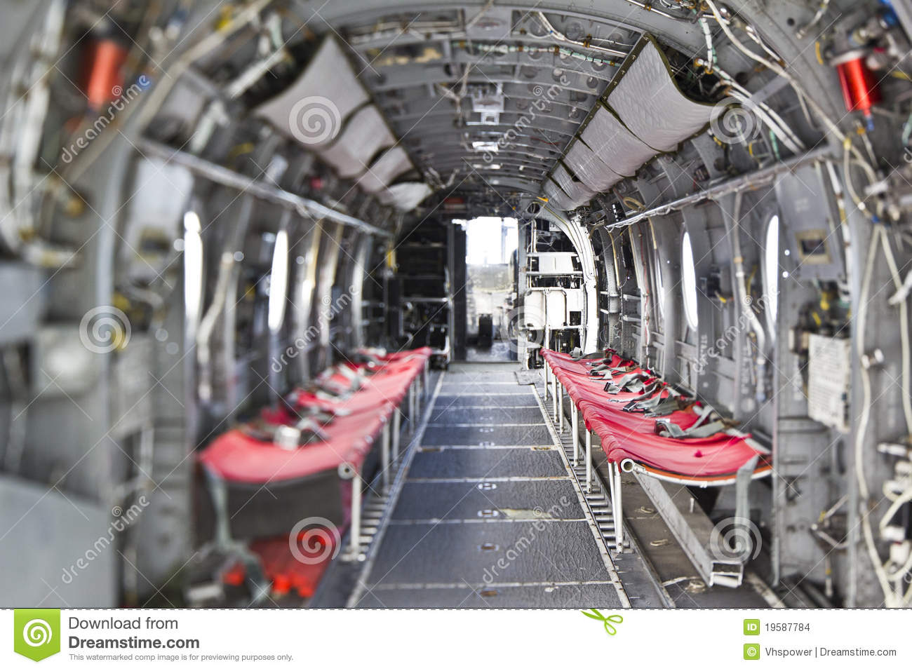 H-46 Sea Knight Helicopter interior