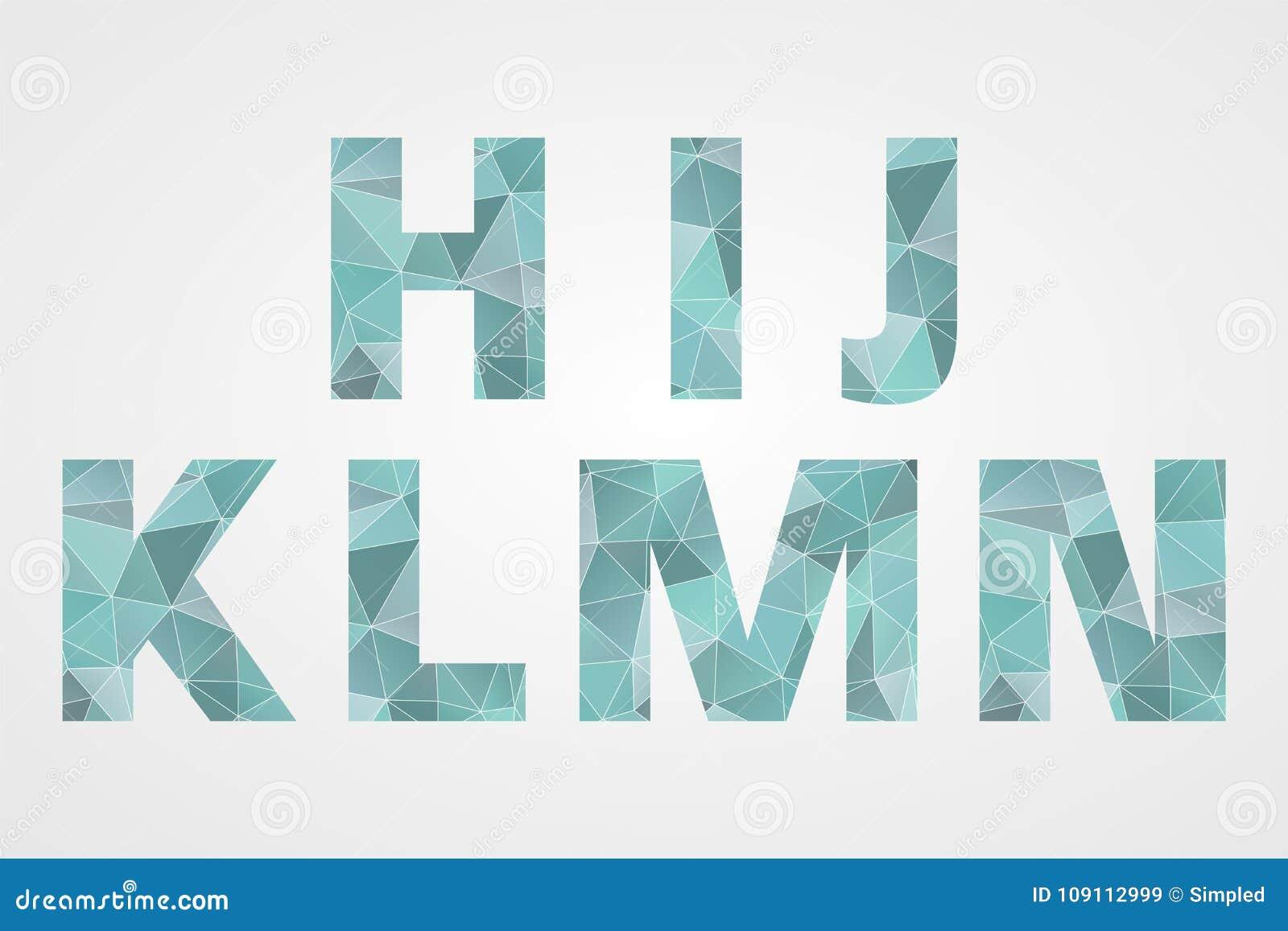 H I J K L M N Polygonal Geometric Letters Abstract Triangle