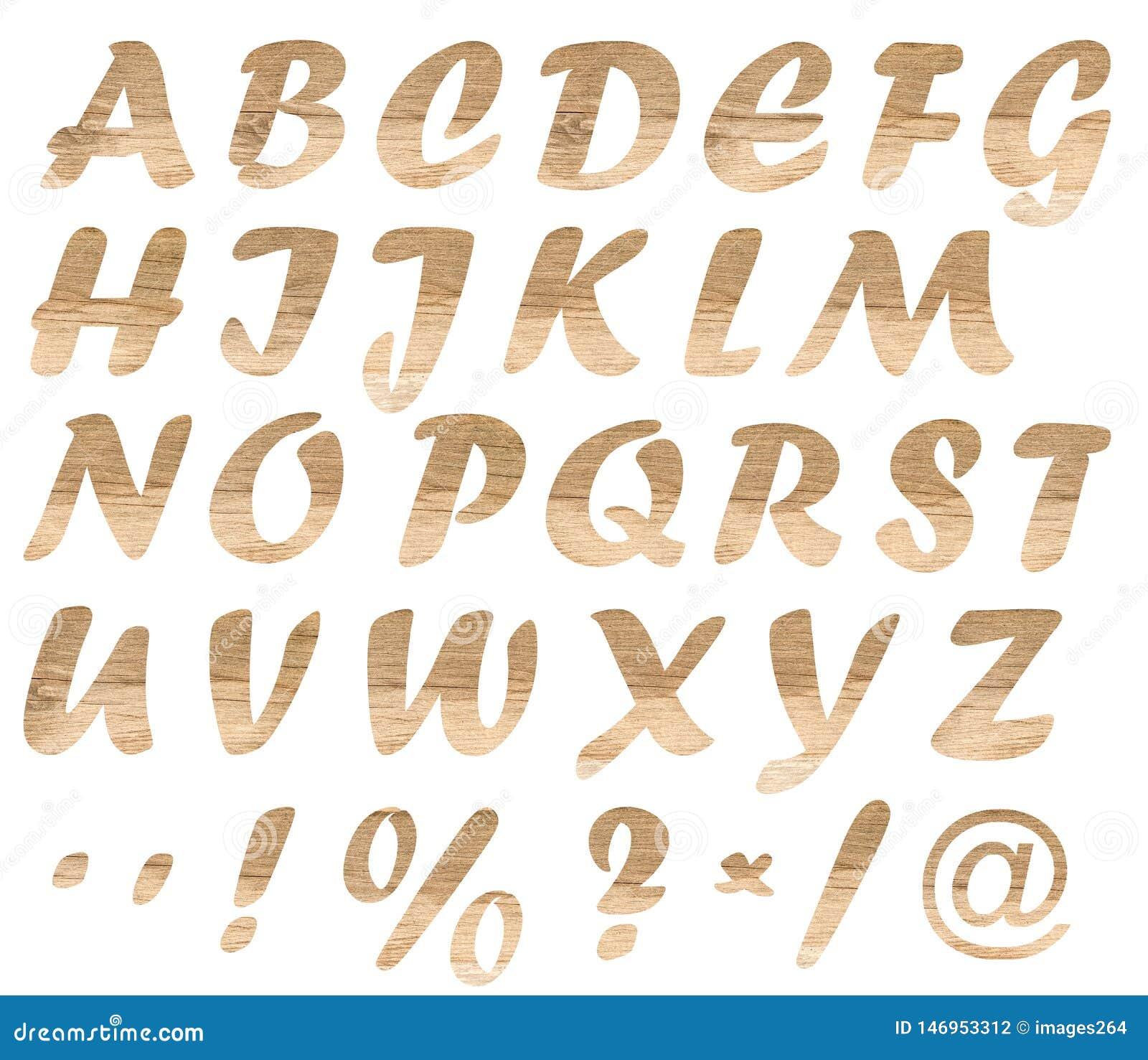 H?lzerne Buchstaben