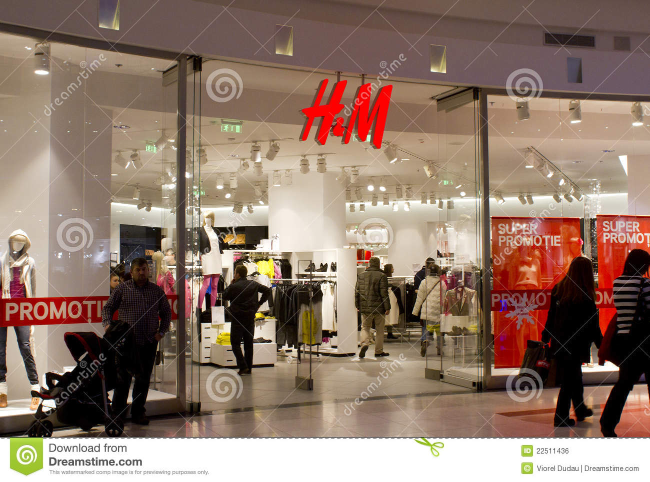 H Amp M Hennes Amp Mauritz Ab Shop And Logo Editorial Photo