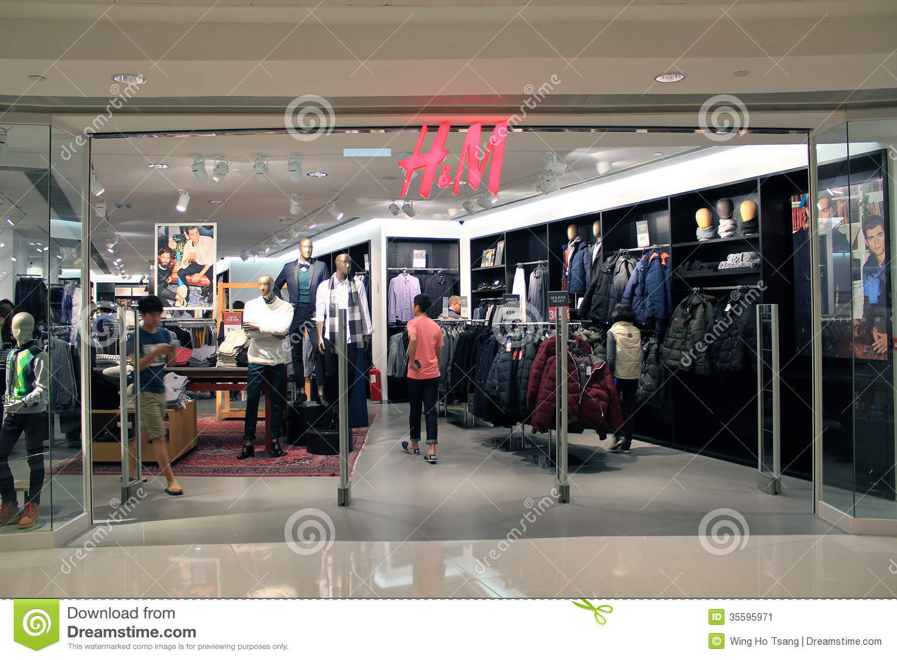 H And M Shop In Hong Kong Editorial Photo - Image: 35595971