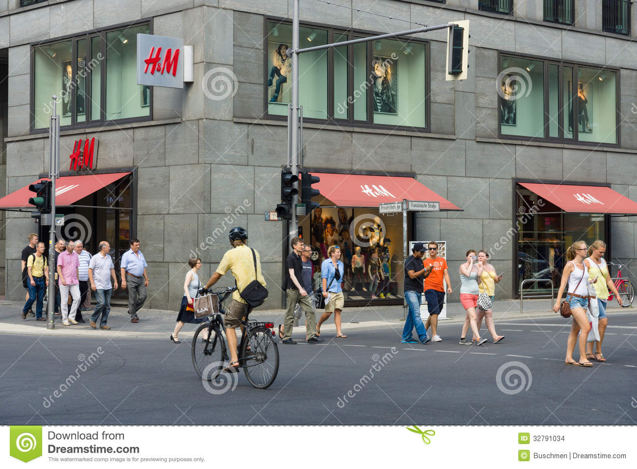 store on Friedrichstrasse. H&M Hennes & Mauritz AB is a Swedish