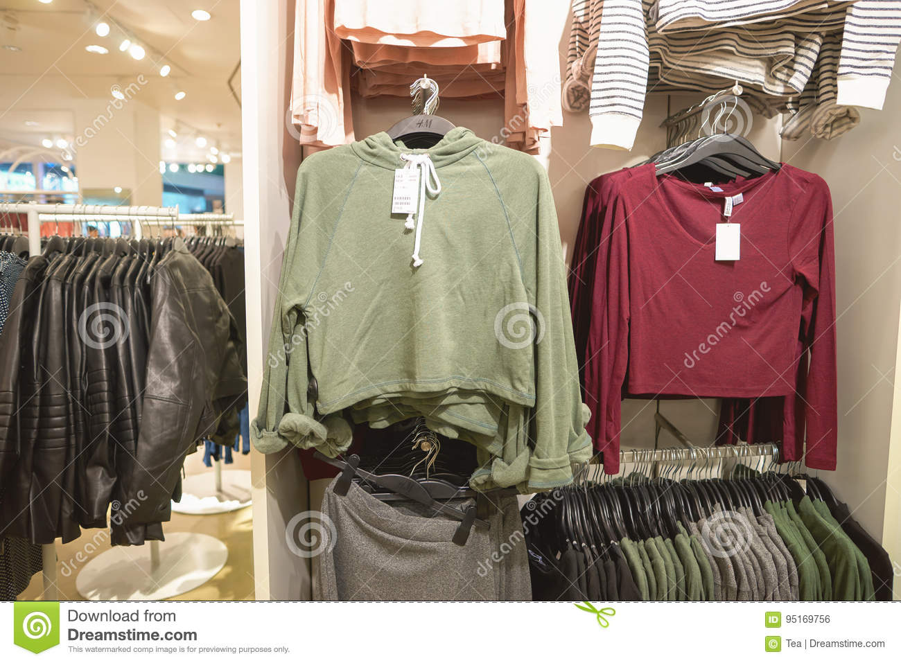 44ed9b71087 H   M store stock photo. Image of inside
