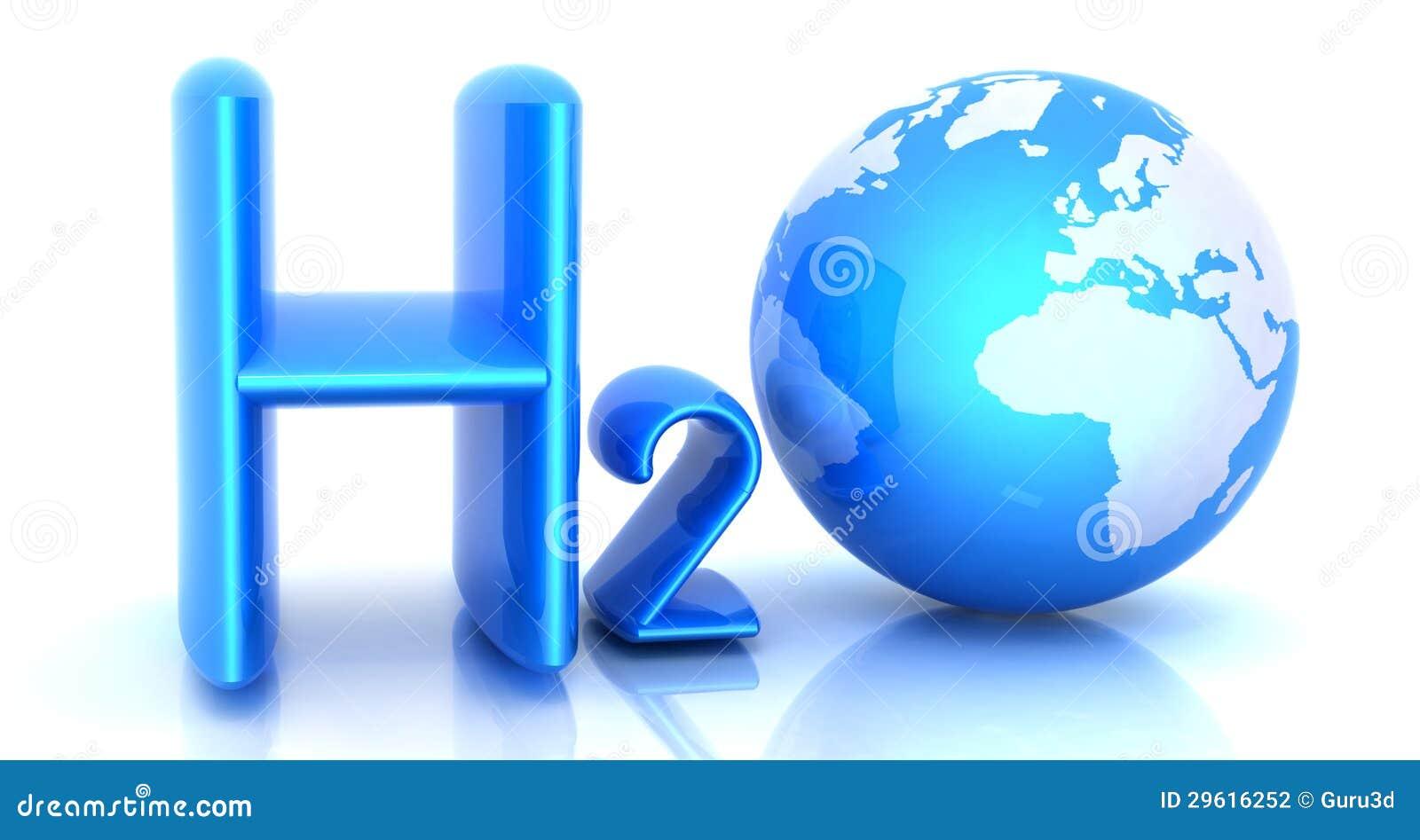 h2o formule de l 39 eau illustration stock illustration du monde 29616252. Black Bedroom Furniture Sets. Home Design Ideas