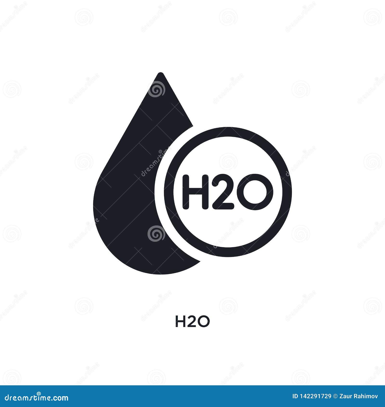 H2o a isolé l icône illustration simple d élément des icônes de concept de la science conception editable de symbole de signe de