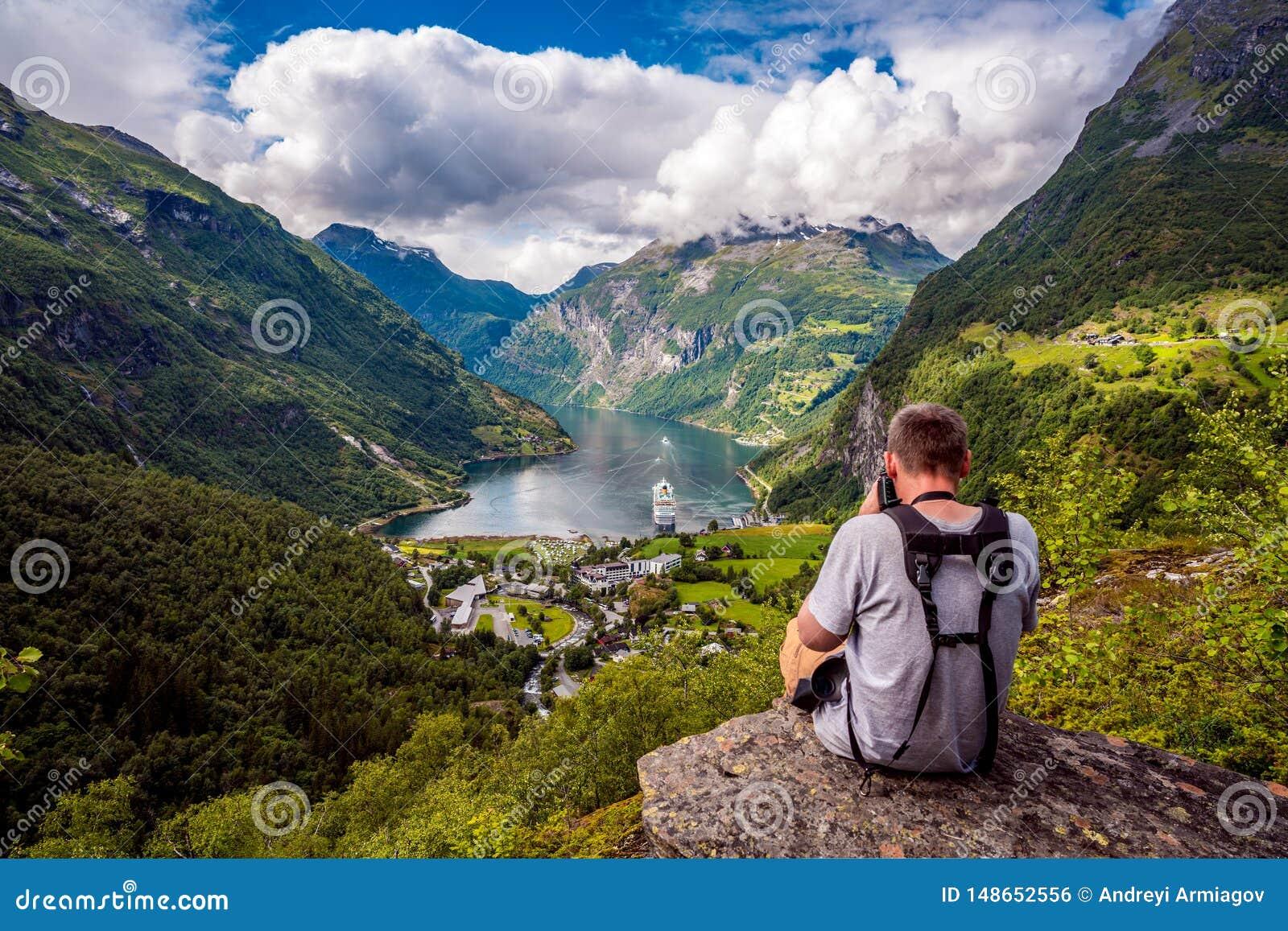 H?rlig natur Norge f?r Geiranger fjord