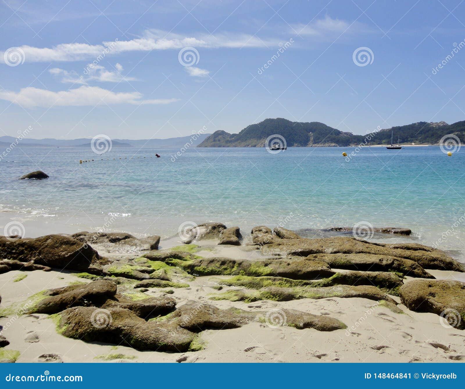 H?rligt landskap av ett naturligt atlantiskt paradis