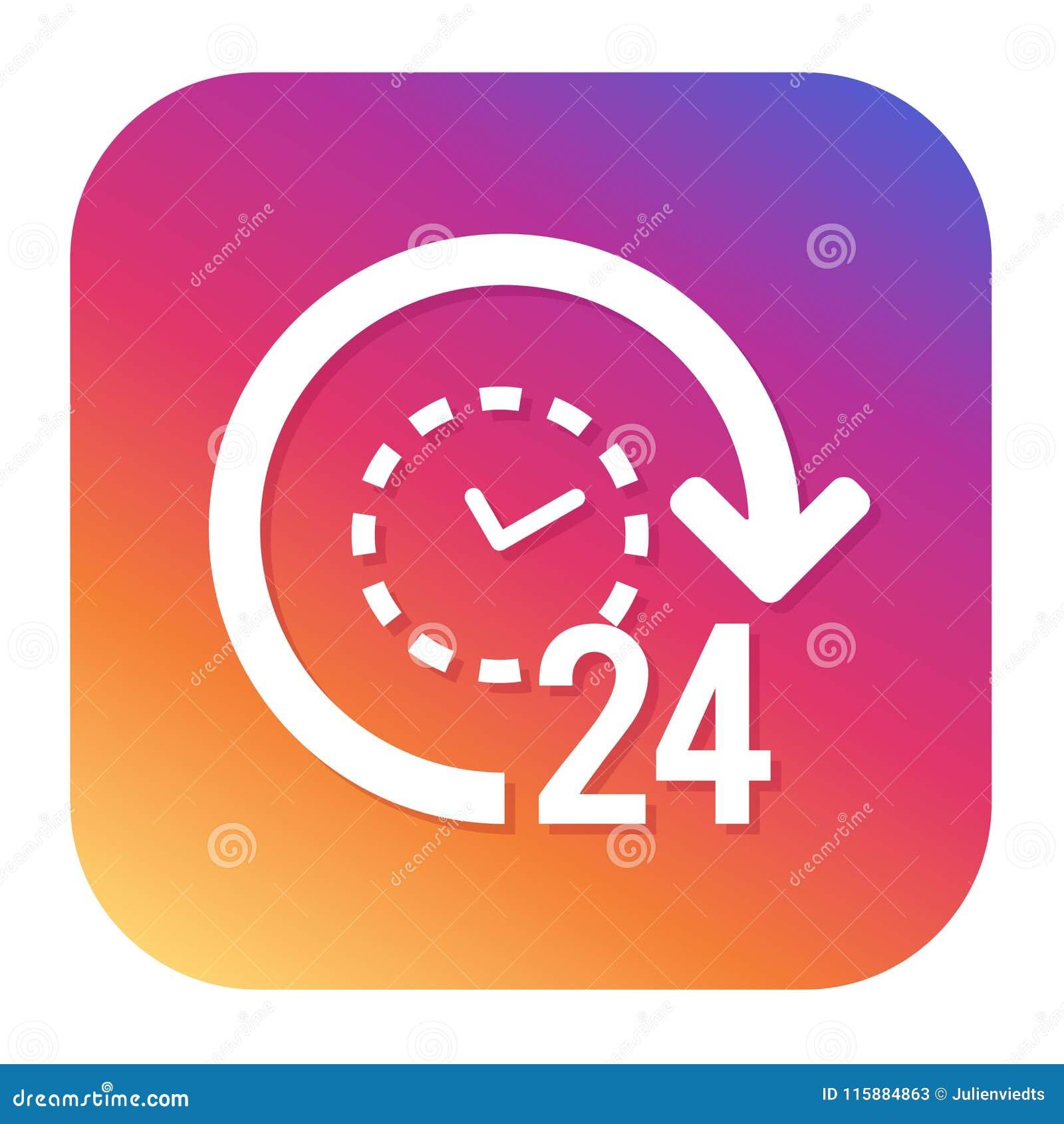 24h steunpictogram met hipsterknoop elektronische handelknoop Het winkelen Symbool