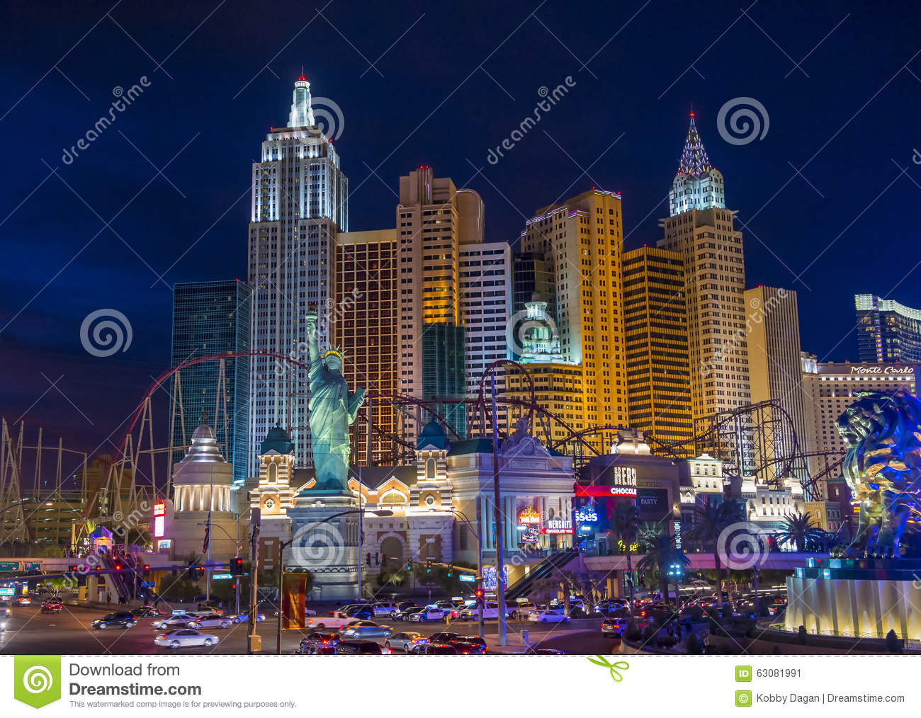 Download Hôtel De Las Vegas New York Photo éditorial - Image du gibiers, fentes: 63081991