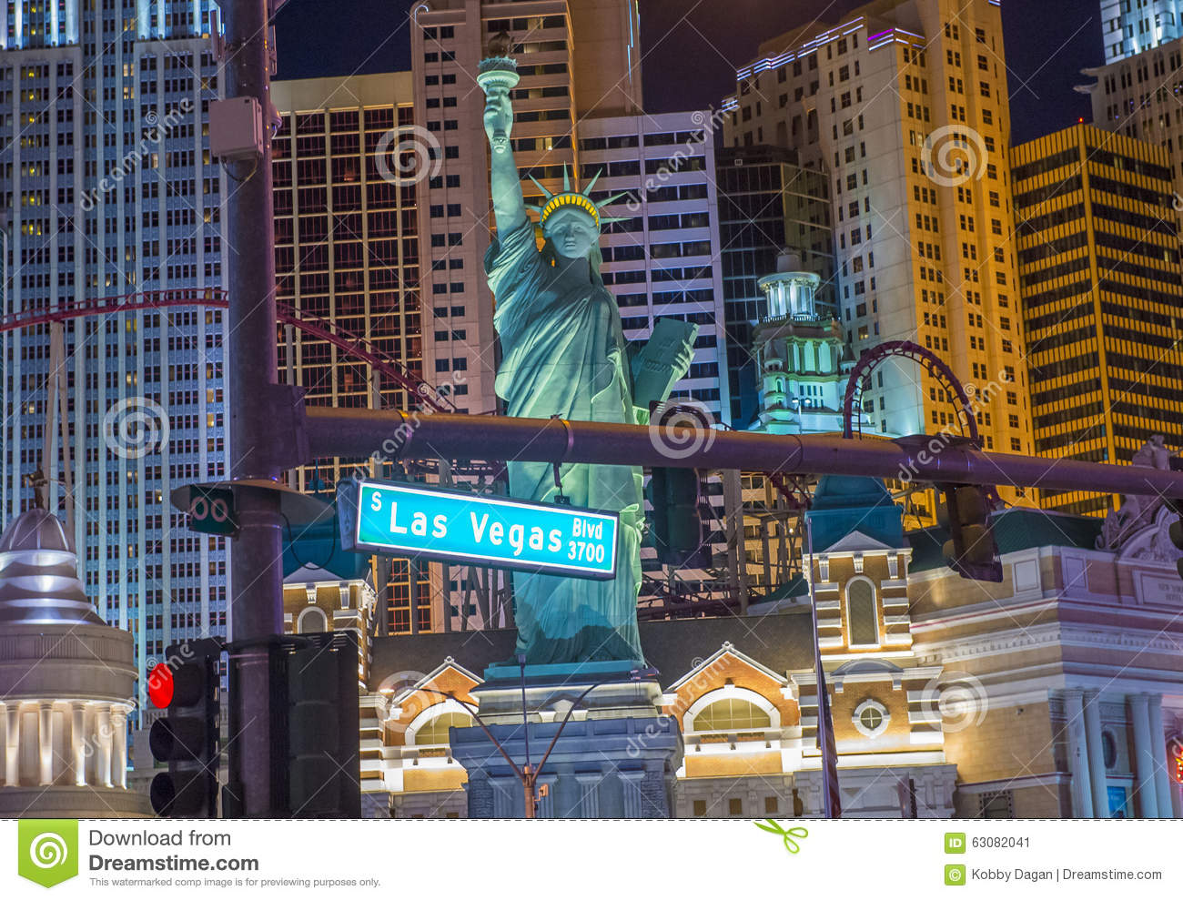 Download Hôtel De Las Vegas New York Photo éditorial - Image du coloré, gibiers: 63082041