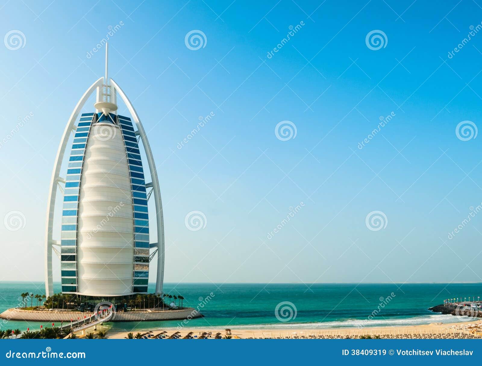 Hôtel de luxe Burj Al Arab Tower des Arabes