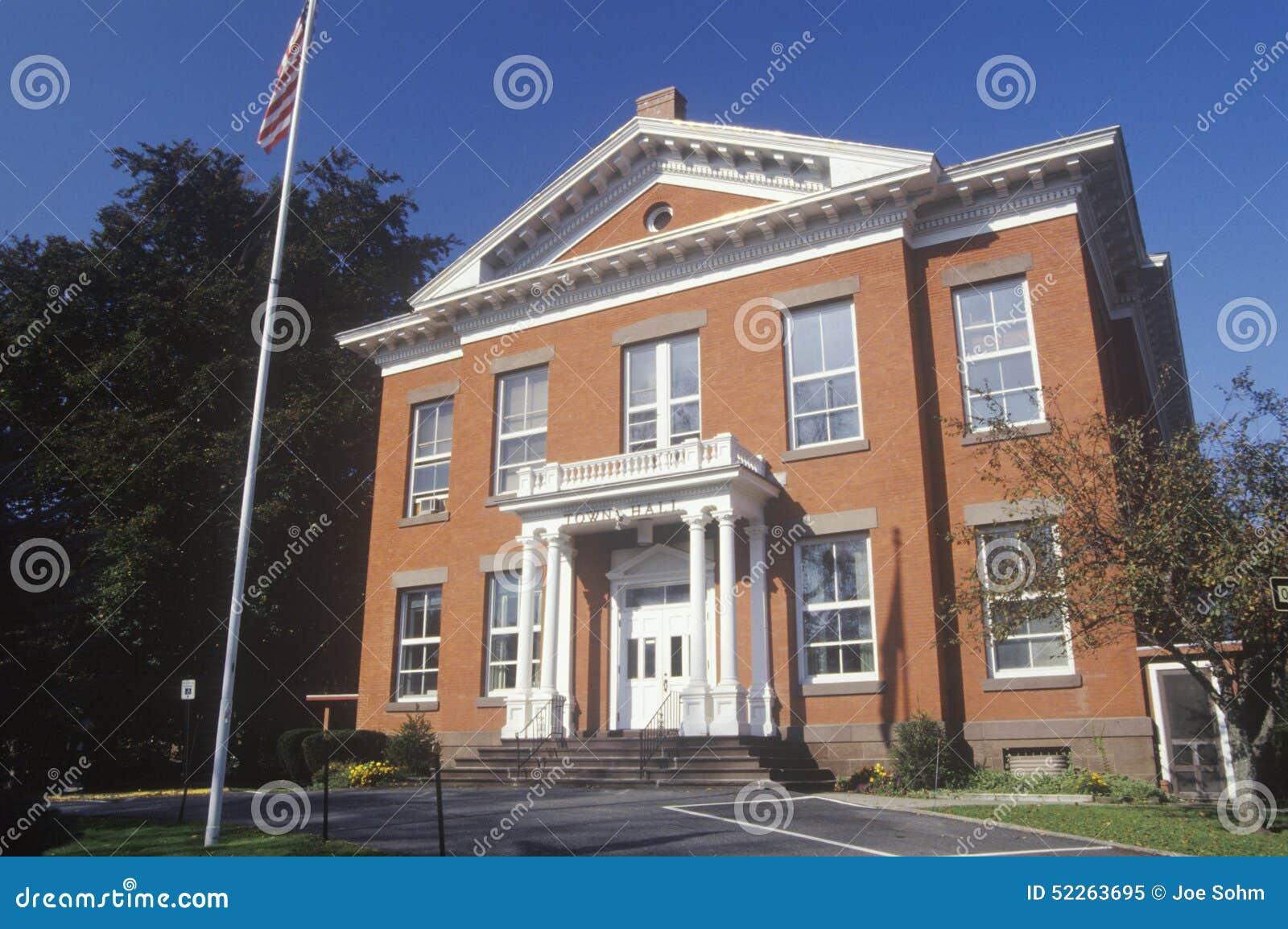 Hôtel de ville de brique, grand Barrington, mA