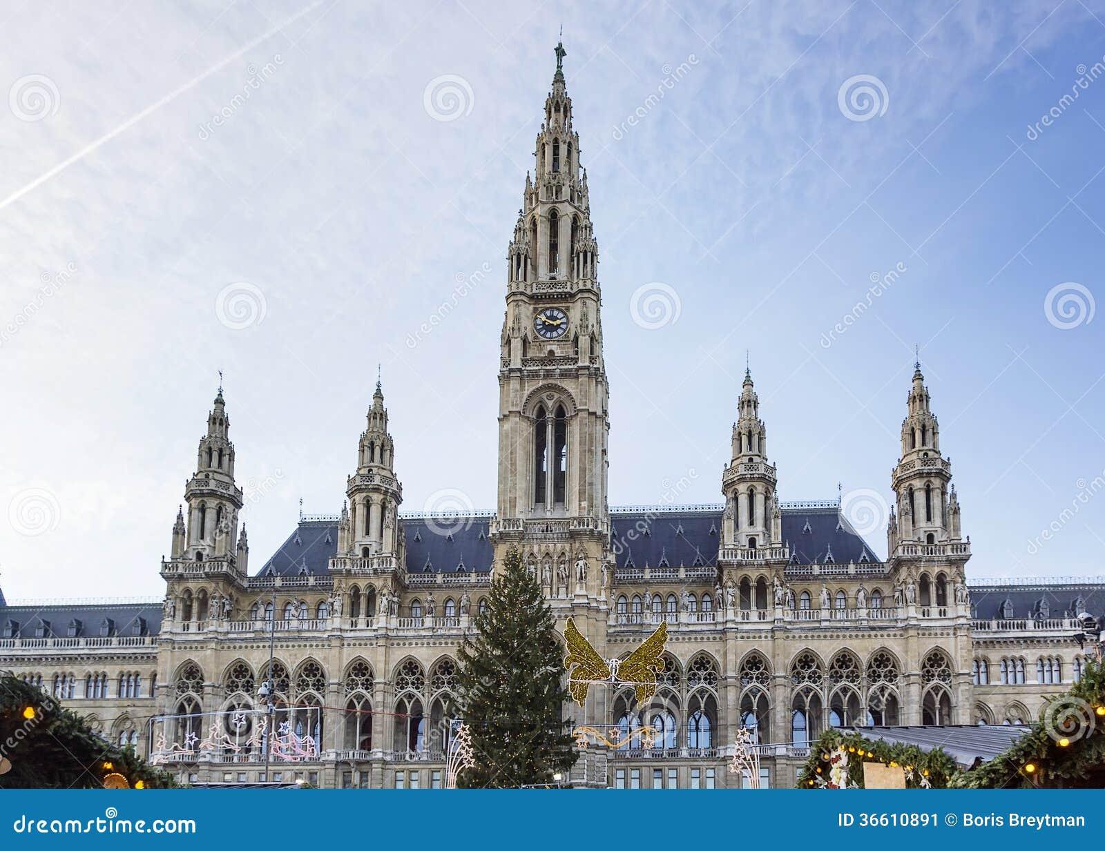 H tel de ville de vienne autriche image stock image du for Boutique hotel vienne autriche