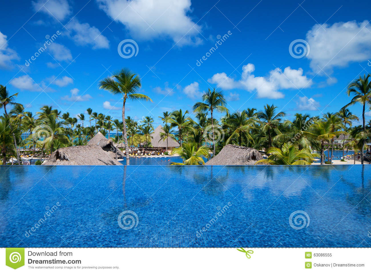 Download Hôtel tropical de luxe image stock. Image du plaisir - 63086555