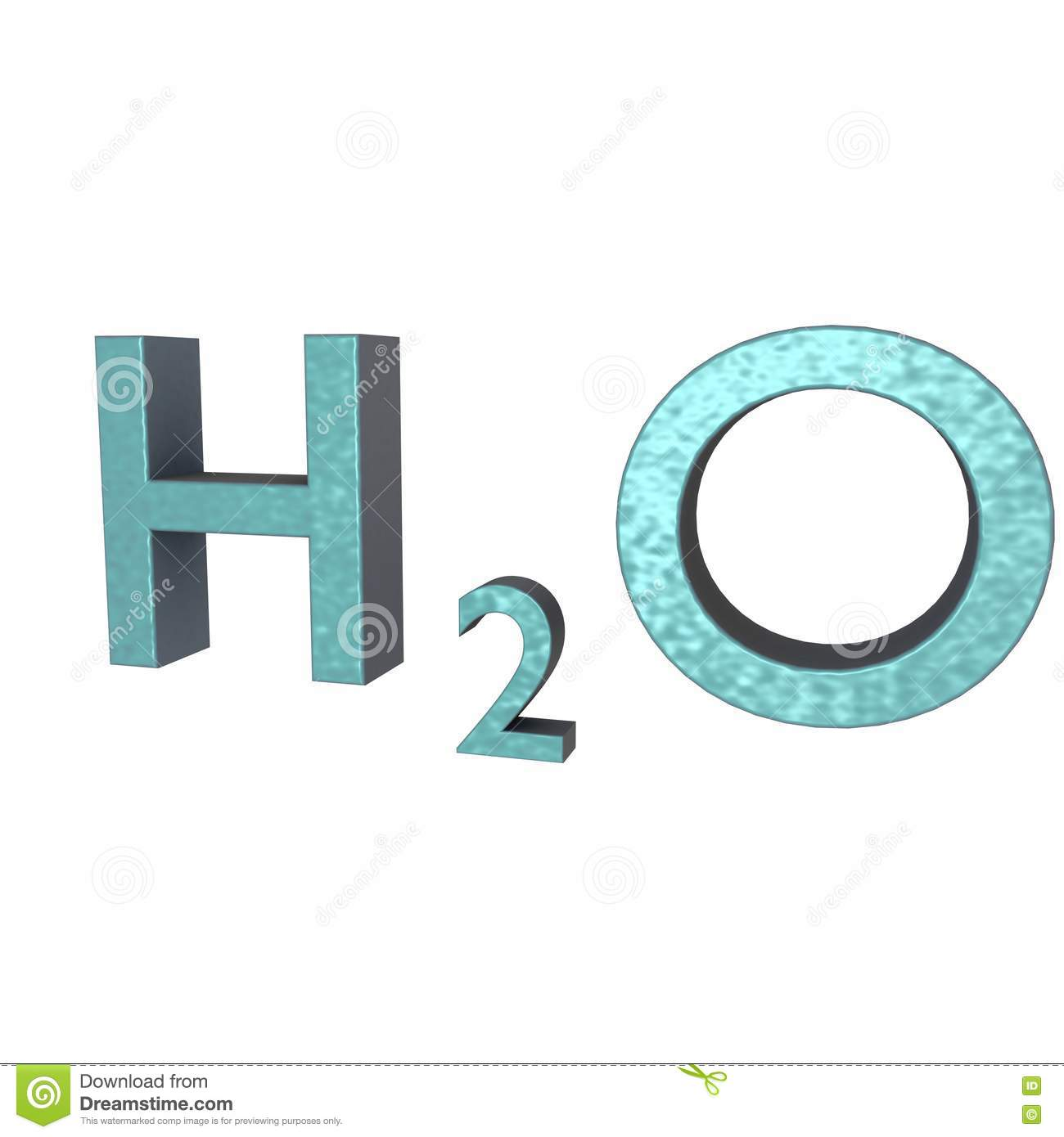 H20 Letters 3d Stock Illustration Image Of Resource