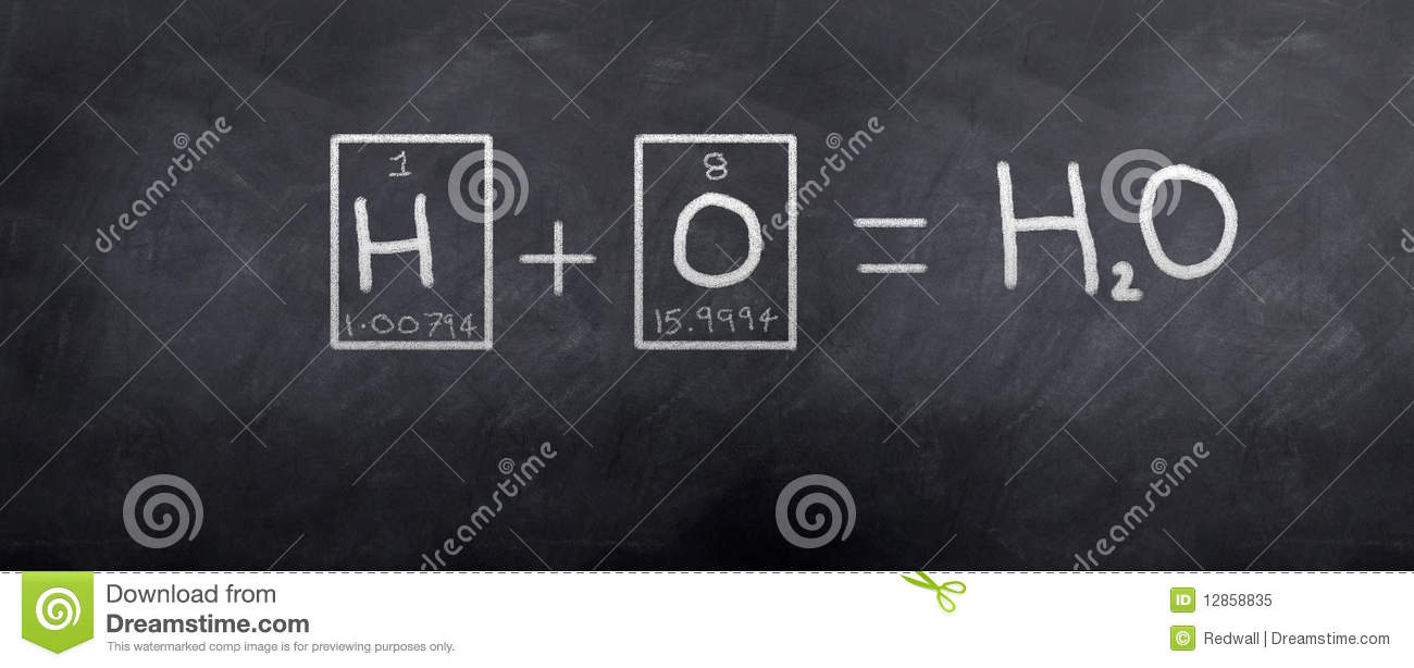 H20 Water Stock Illustration Image Of Black Chalkboard