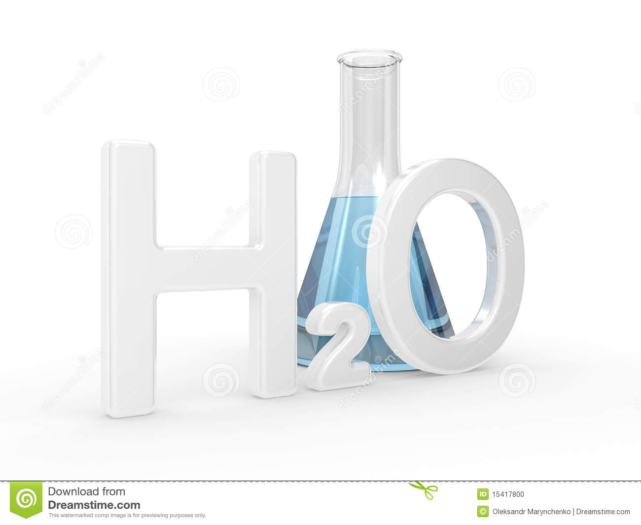 h2o water symbol stock illustration  illustration of