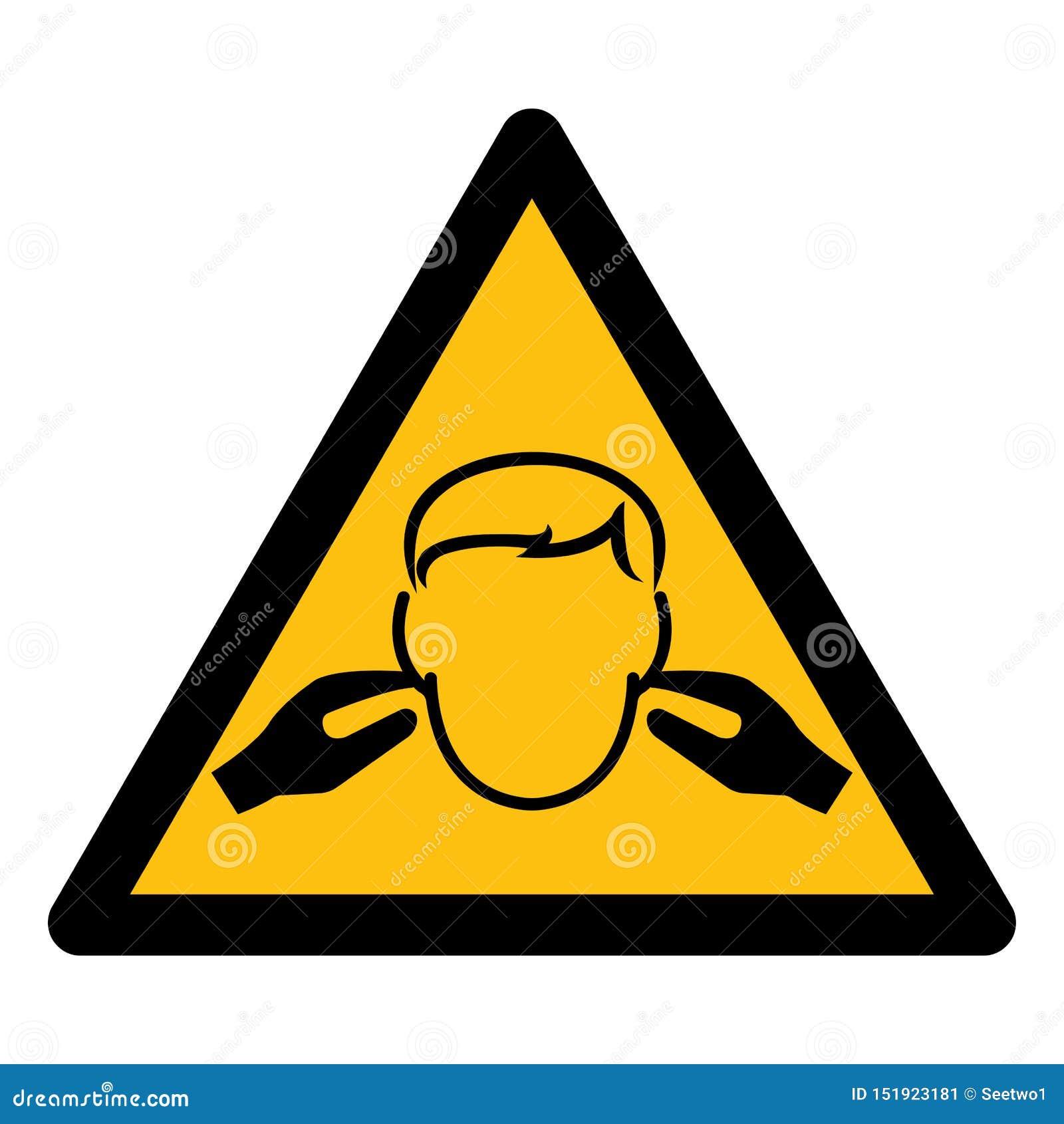 Hałasu symbolu znak Odizolowywa Na Białym tle, Wektorowa ilustracja EPS 10