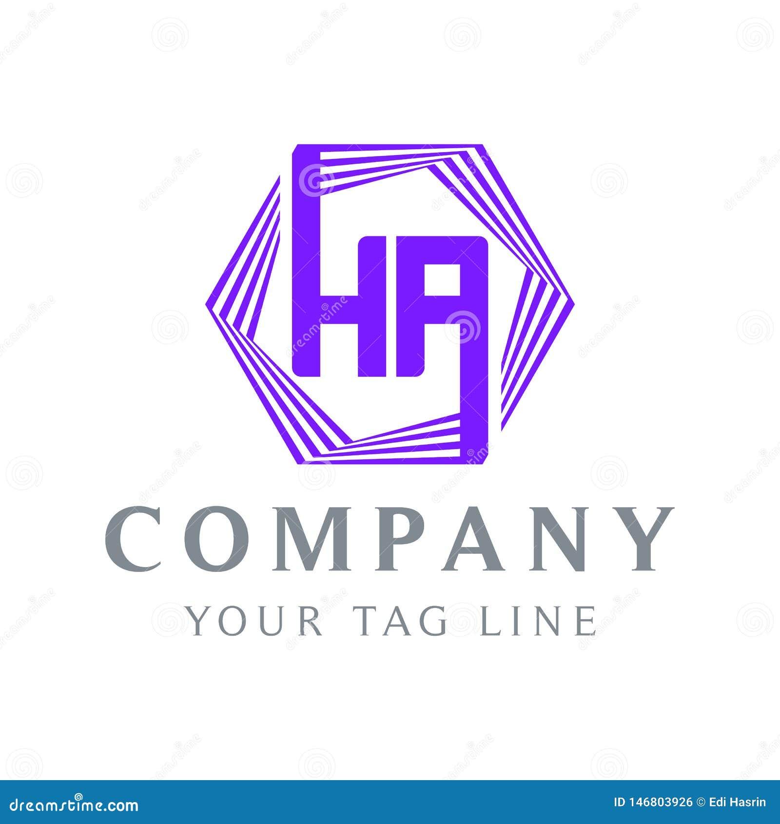 HA в форме логотип HA, пурпурный