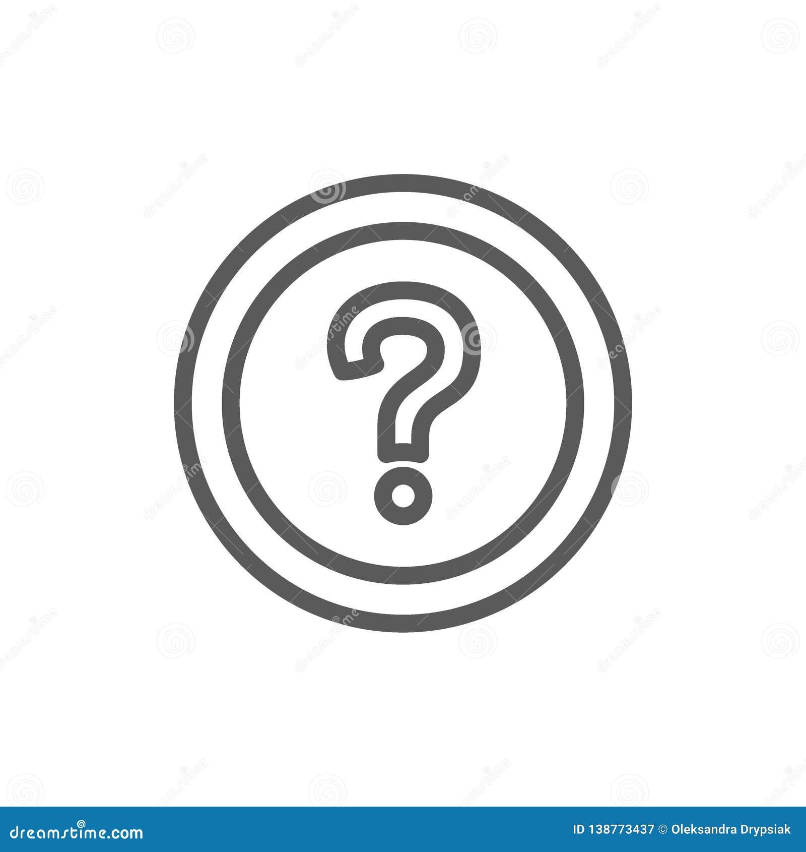 Ha fatto frequentemente le domande, la linea icona del FAQ