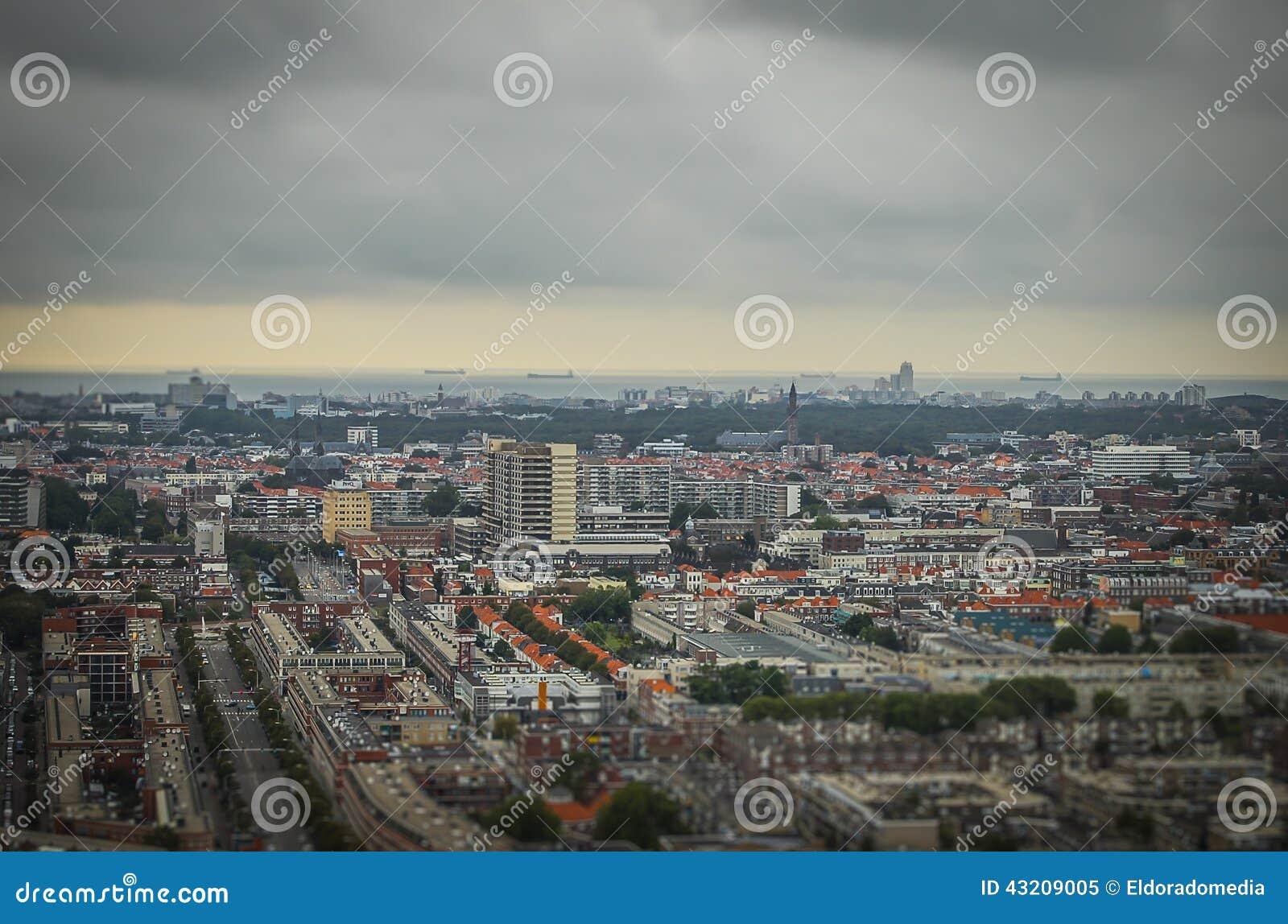 Download Haag NL I Lutande-förskjutning Miniatyr Fotografering för Bildbyråer - Bild av liggande, stad: 43209005