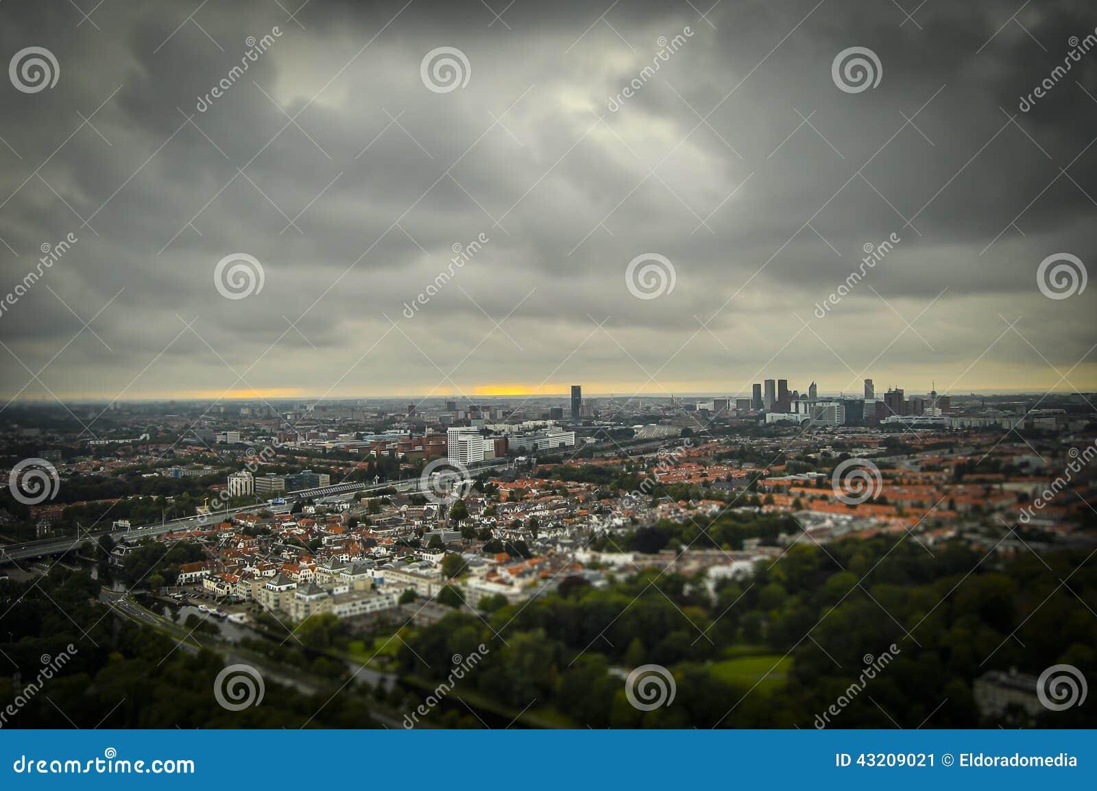 Download Haag NL I Lutande-förskjutning Miniatyr Fotografering för Bildbyråer - Bild av hague, liggande: 43209021
