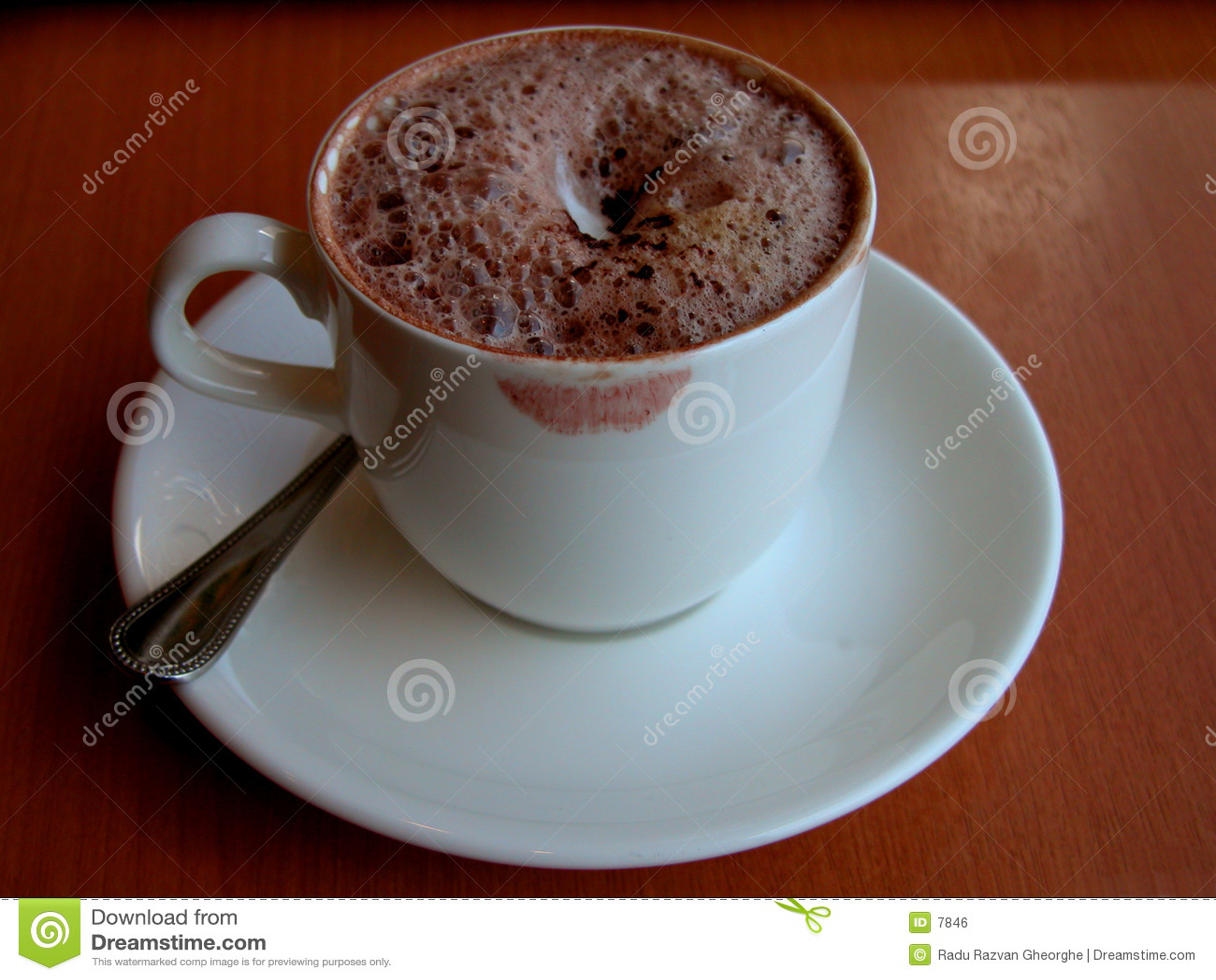 Haar kop van koffie