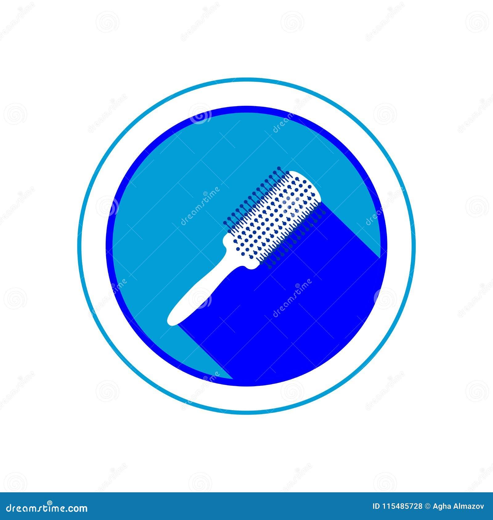 Haarborstelpictogram Vector illustratie