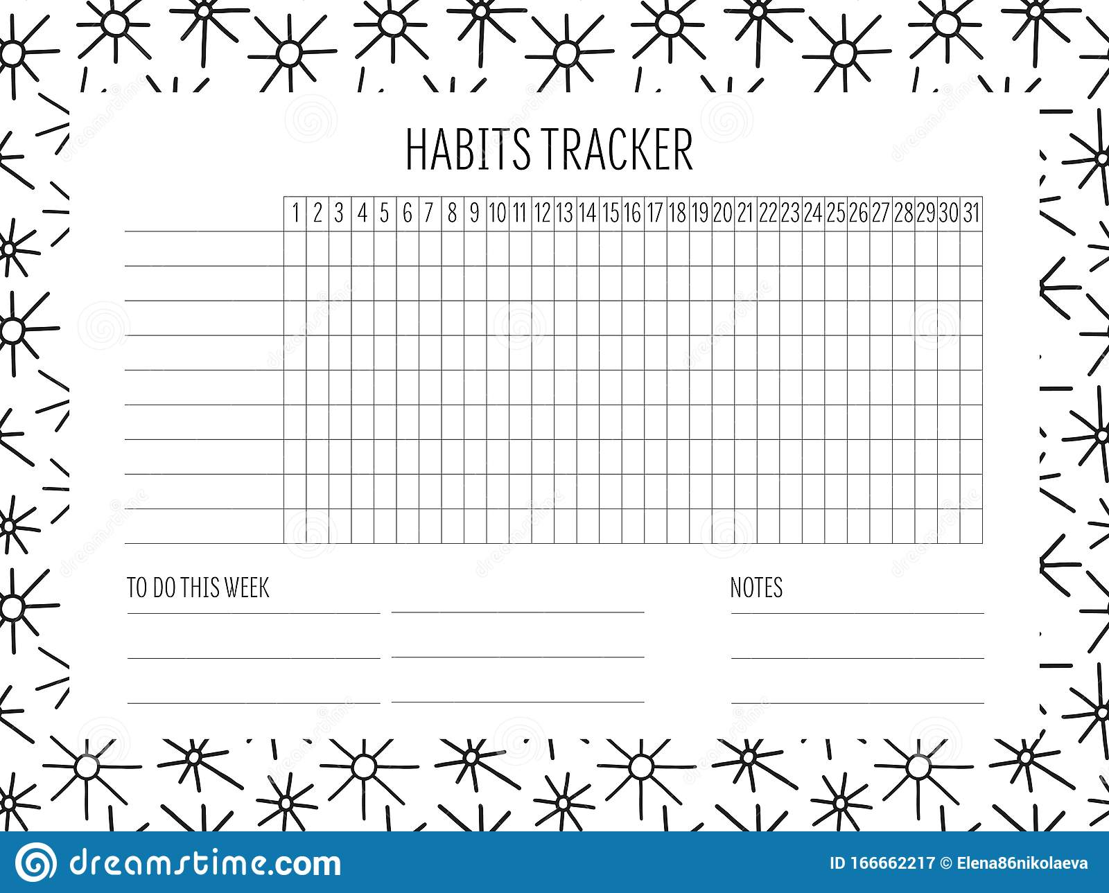It is a picture of Monthly Habit Tracker Printable intended for downloadable