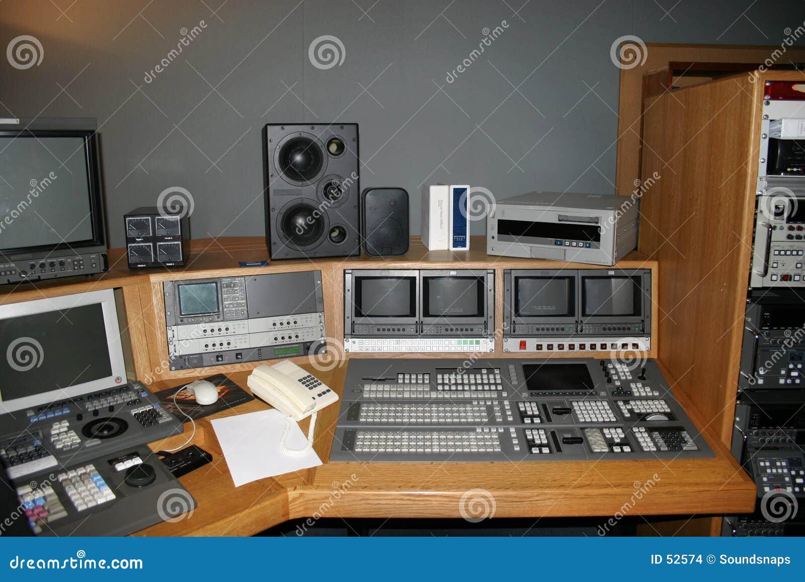 Habitación de la producción del estudio de la TV