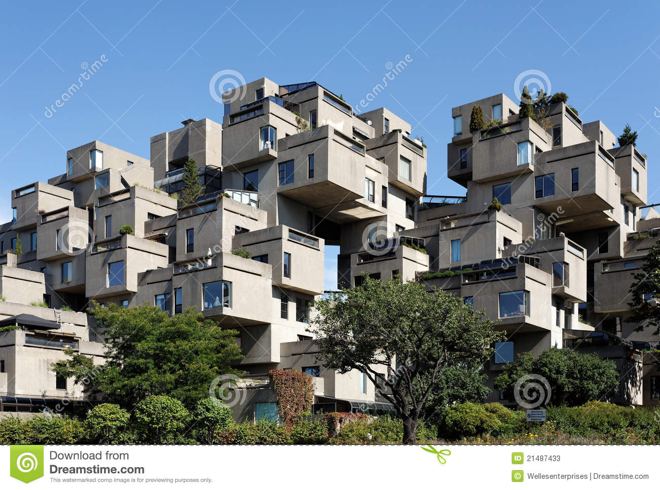 Habitat 67 editorial stock photo image 21487433 for Architecture celebre