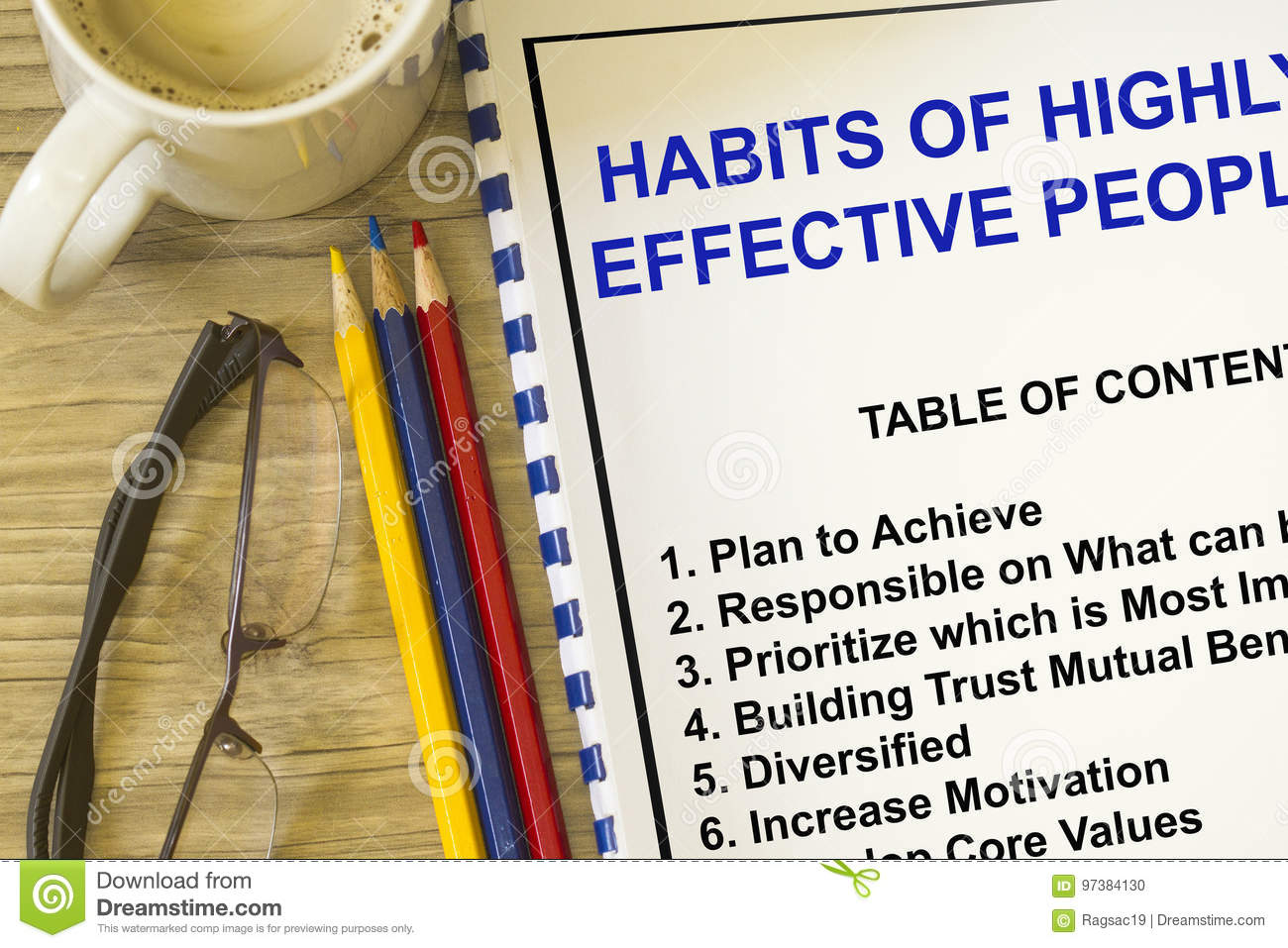 Habits Of Highly Successful People Stock Photo - Image of