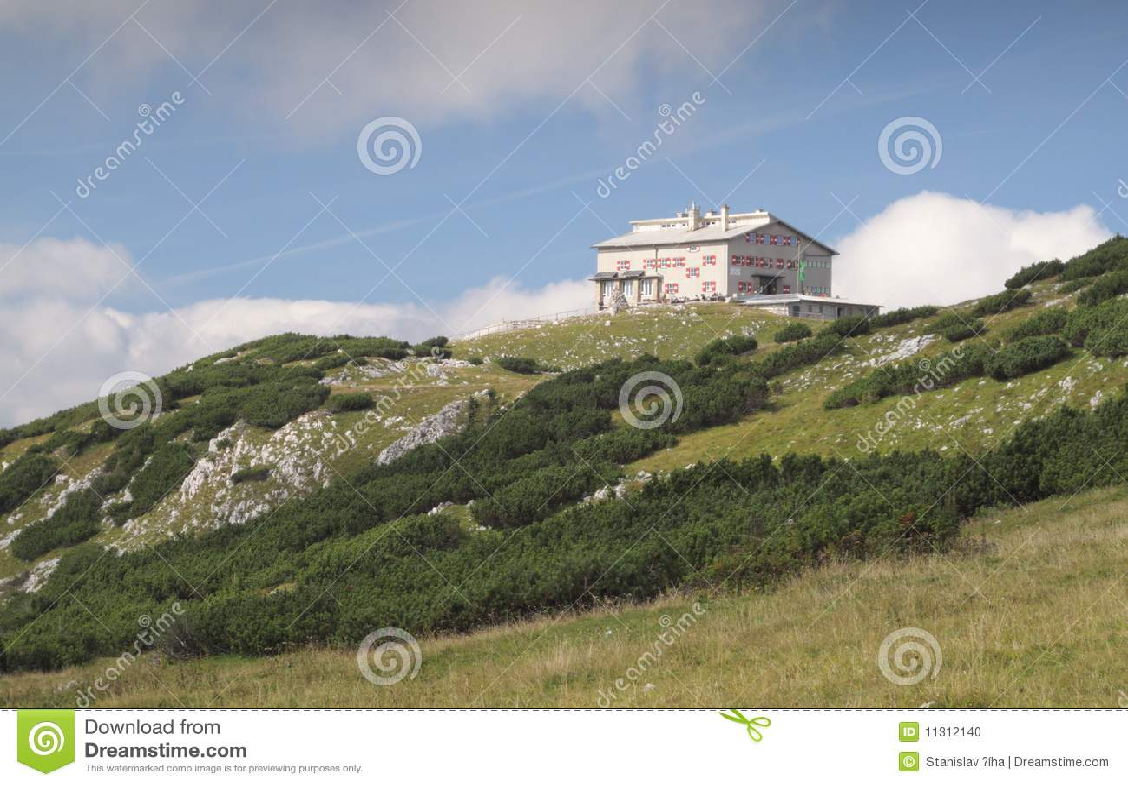 Habsburger moutnain Hütte in den Rax Alpen
