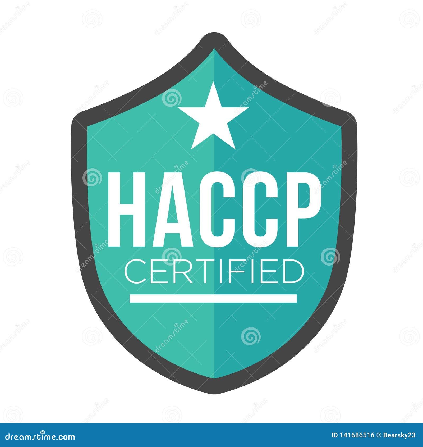 HACCP - Ícone crítico dos pontos de controle da análise de perigo com concessão ou sinal