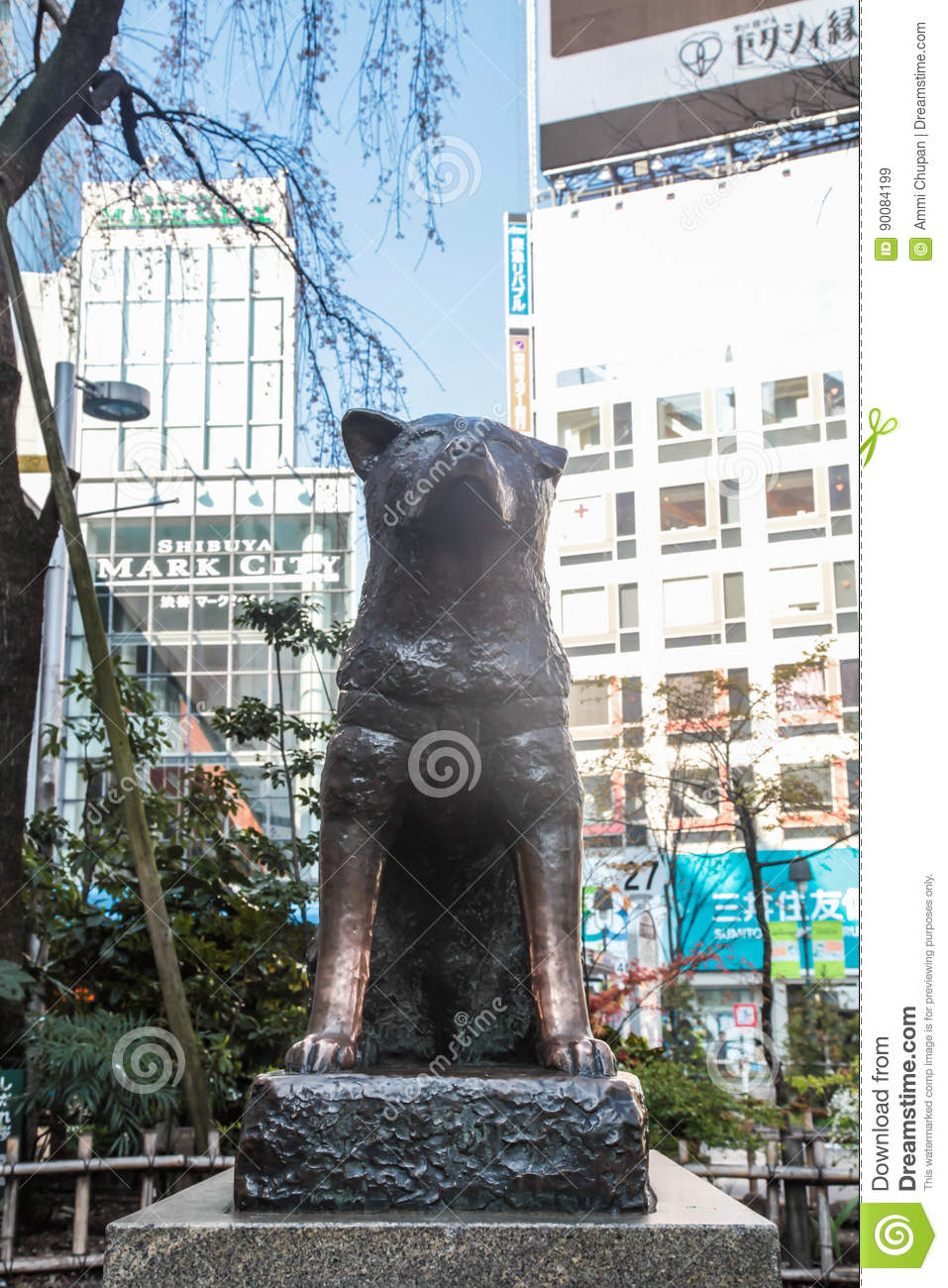 Hachiko Famous Japan Dog Statue As Landmark At Shibuya ...