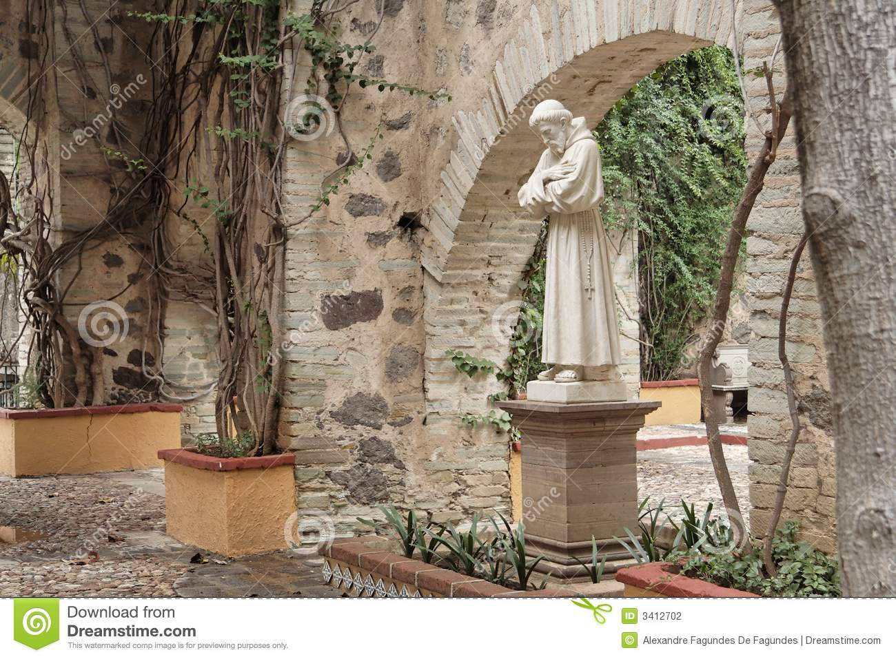 Hacienda Garden Statue Guanajuato Stock Photo Image Of North