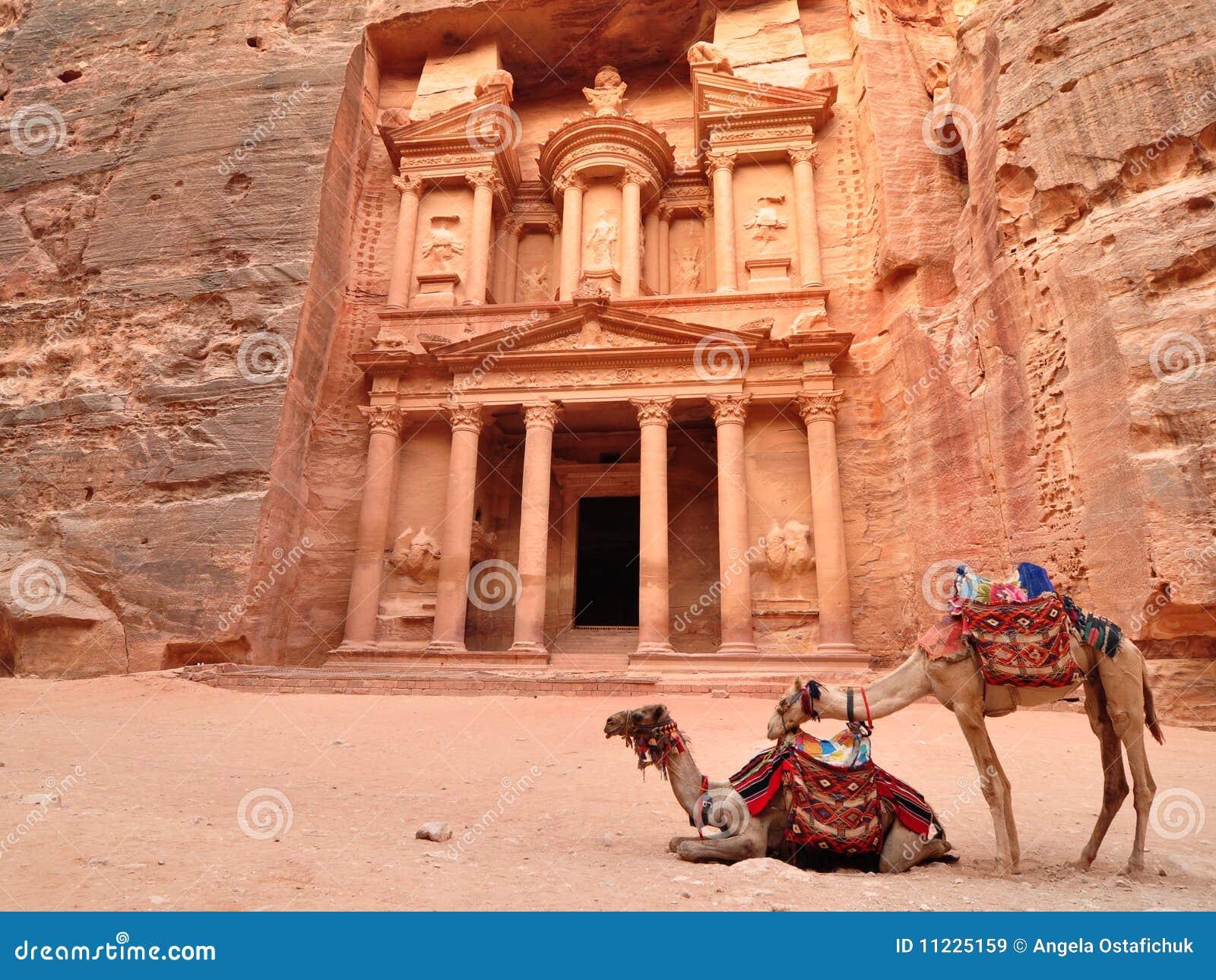 Hacienda y camellos del Petra