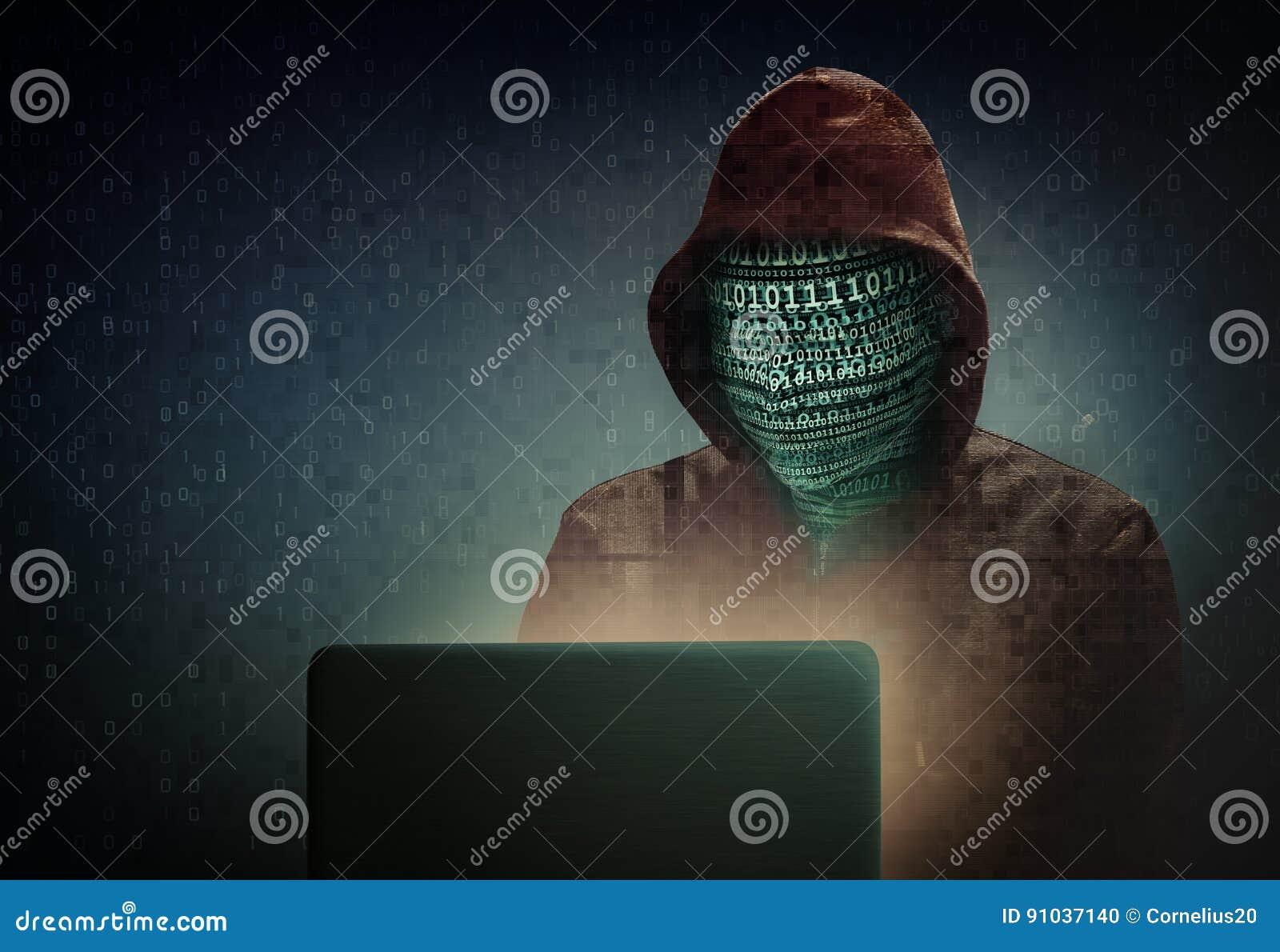 Hacker stock de ilustración. Ilustración de seguridad - 91037140
