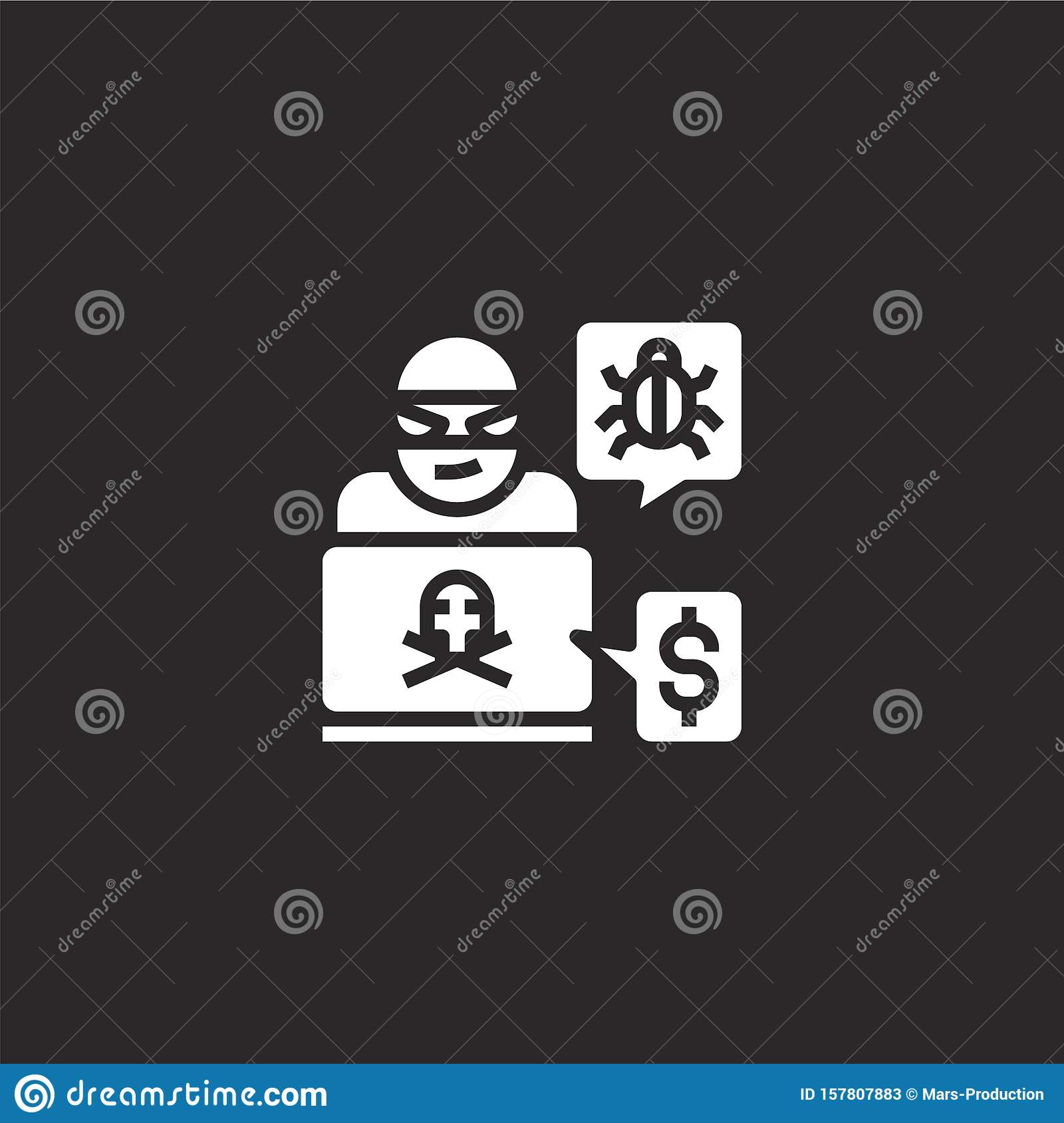 Hacker Icon Filled Hacker Icon For Website Design And Mobile App Development Hacker Icon From Filled Cyber Security Collection Stock Vector Illustration Of Icon Background 157807883
