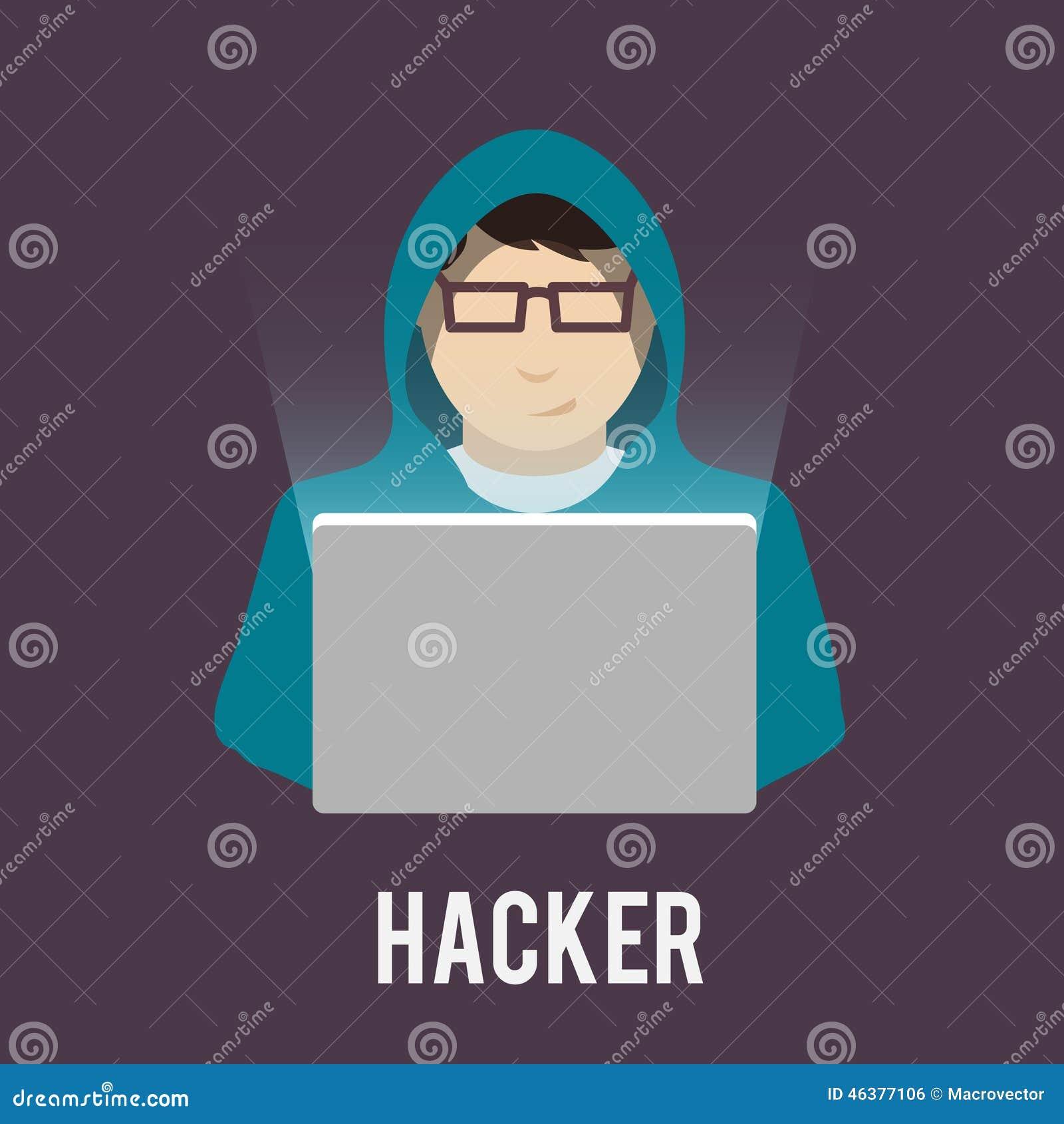 Hacker Icons Flat Stock Vector - Image: 46377106