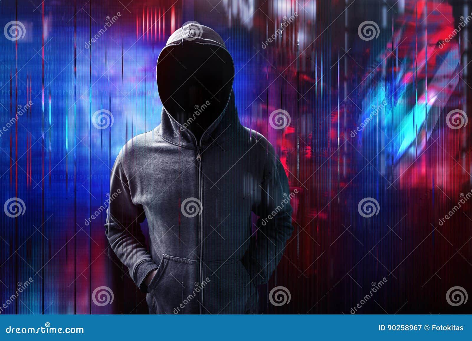 Hacker no pulso aleatório digital