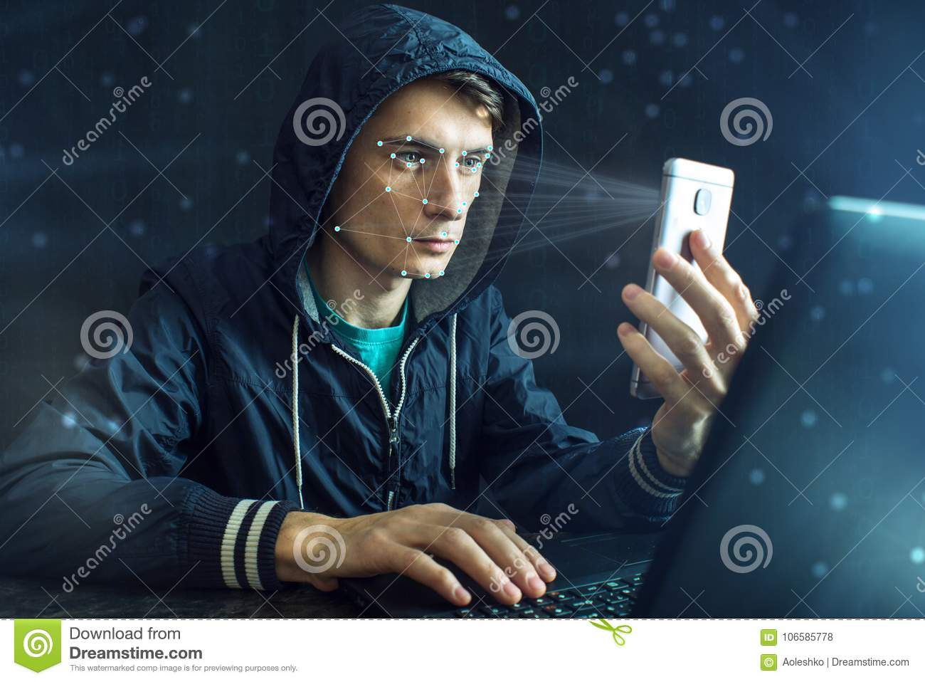Hacker Is Trying To Hack Into The Phone Using The Personal