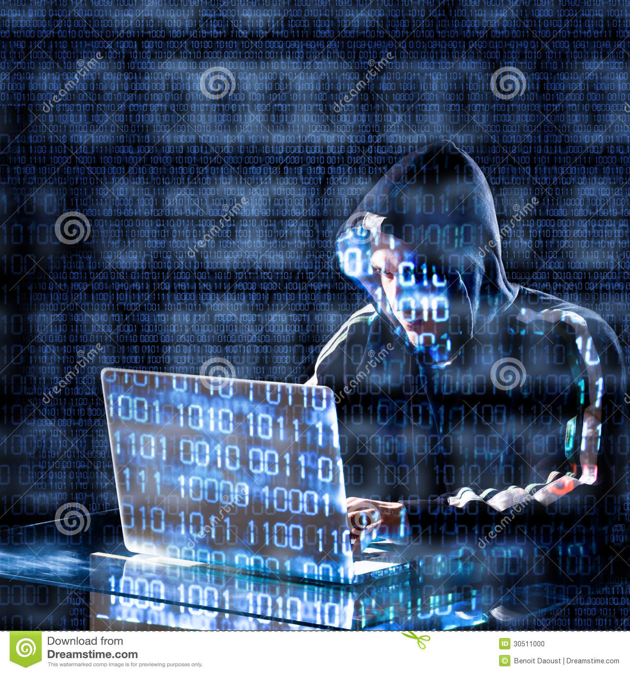 Hacker Typing On A Laptop Stock Photo Image Of Cyber